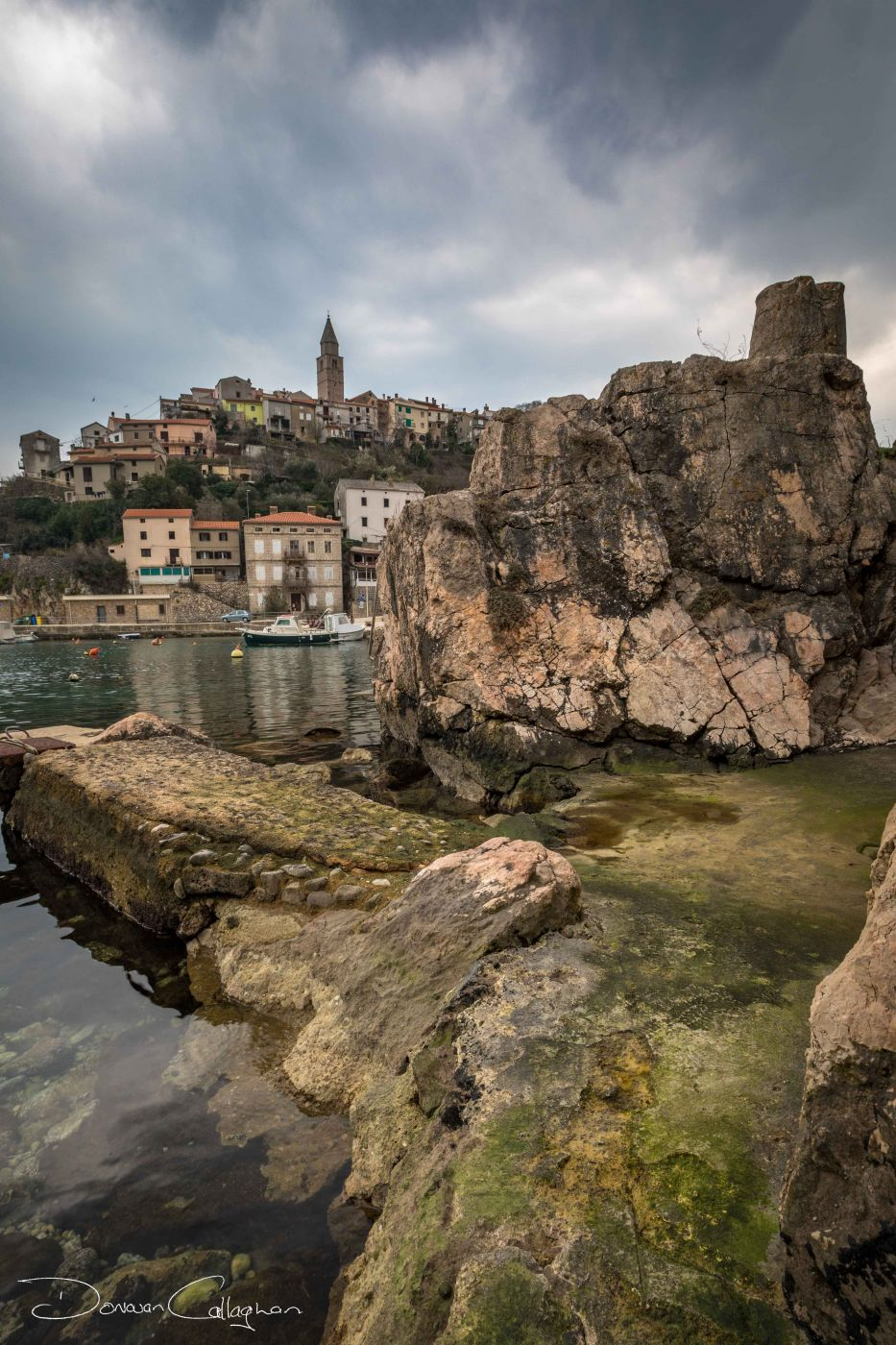 Vrbnk Harbour and town, Croatia