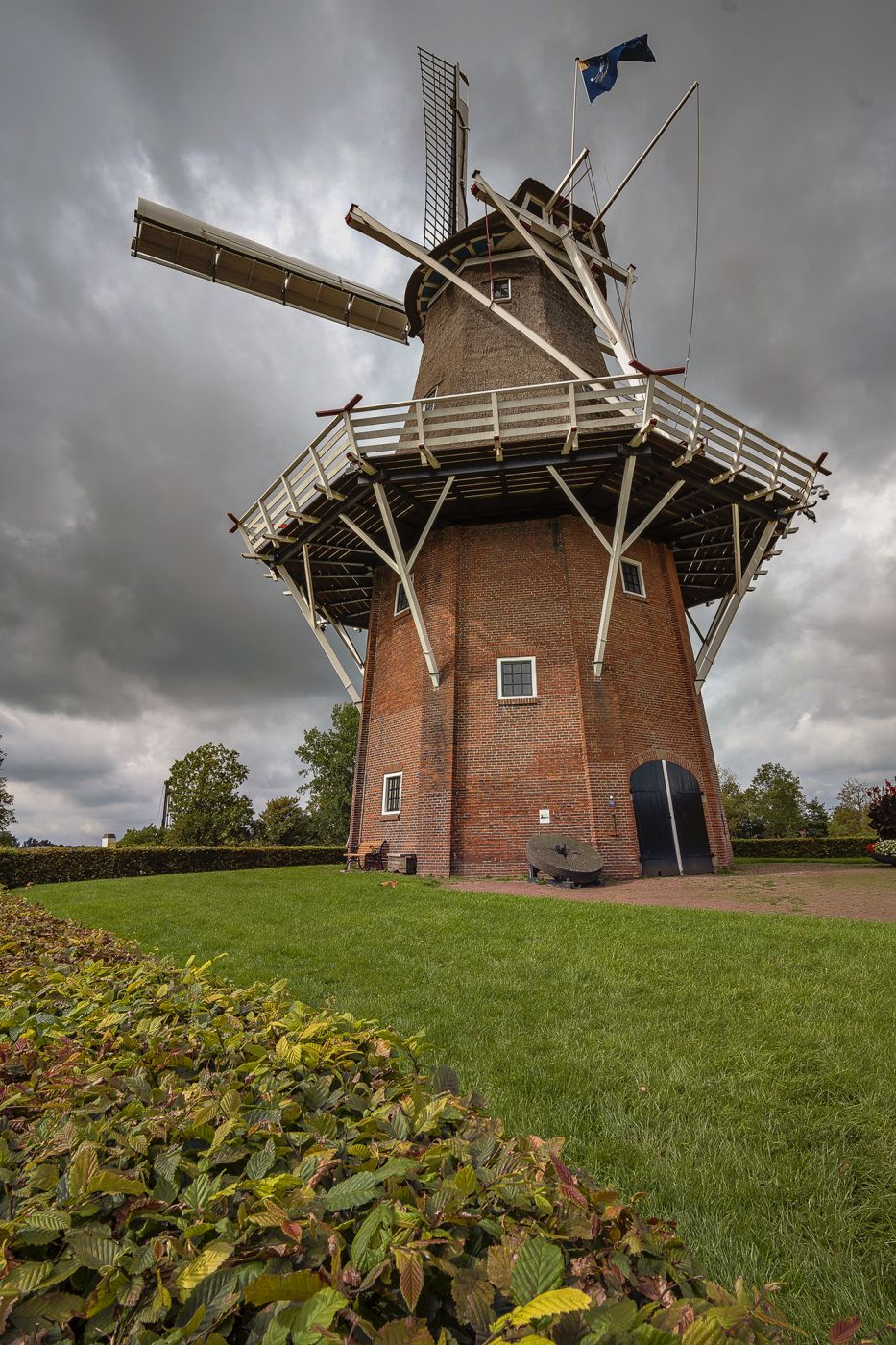 Windmill in Dokkum, Netherlands