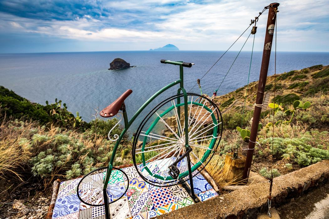 Area balneare Pollara bike transport Salina, Italy