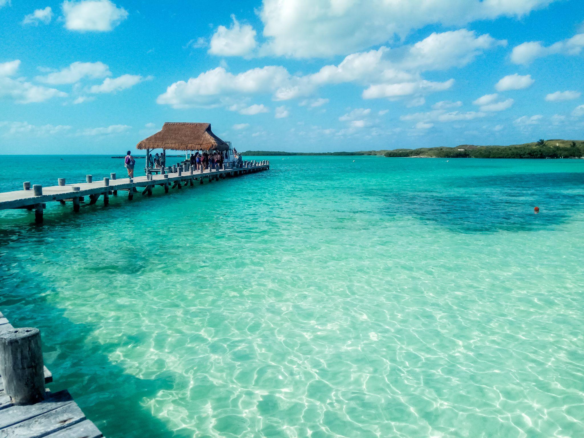 Caribbean pier, Mexico