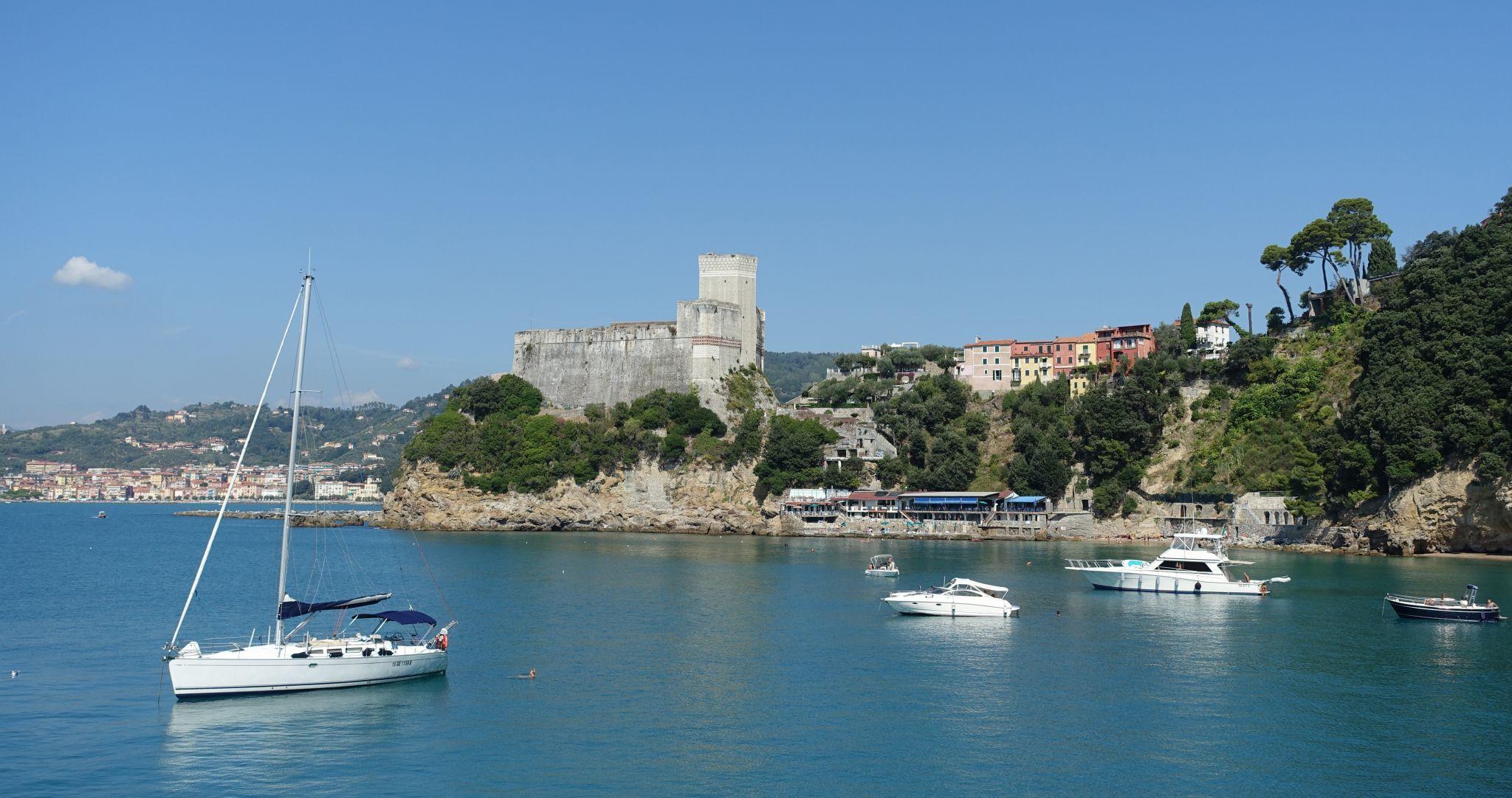 Coast at Lerici, near La Spezia, Italy