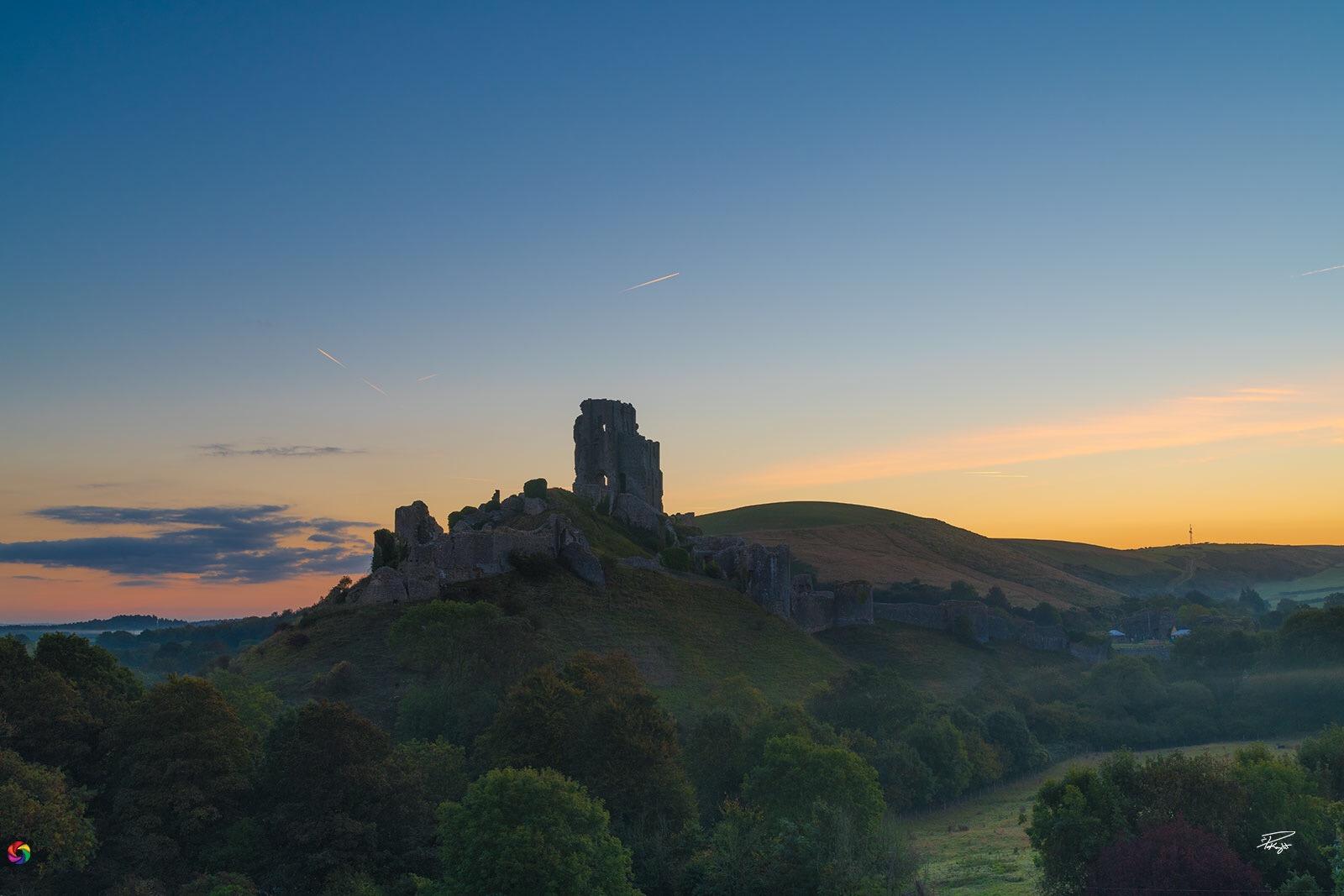 Corfe Castle Sunrise, United Kingdom