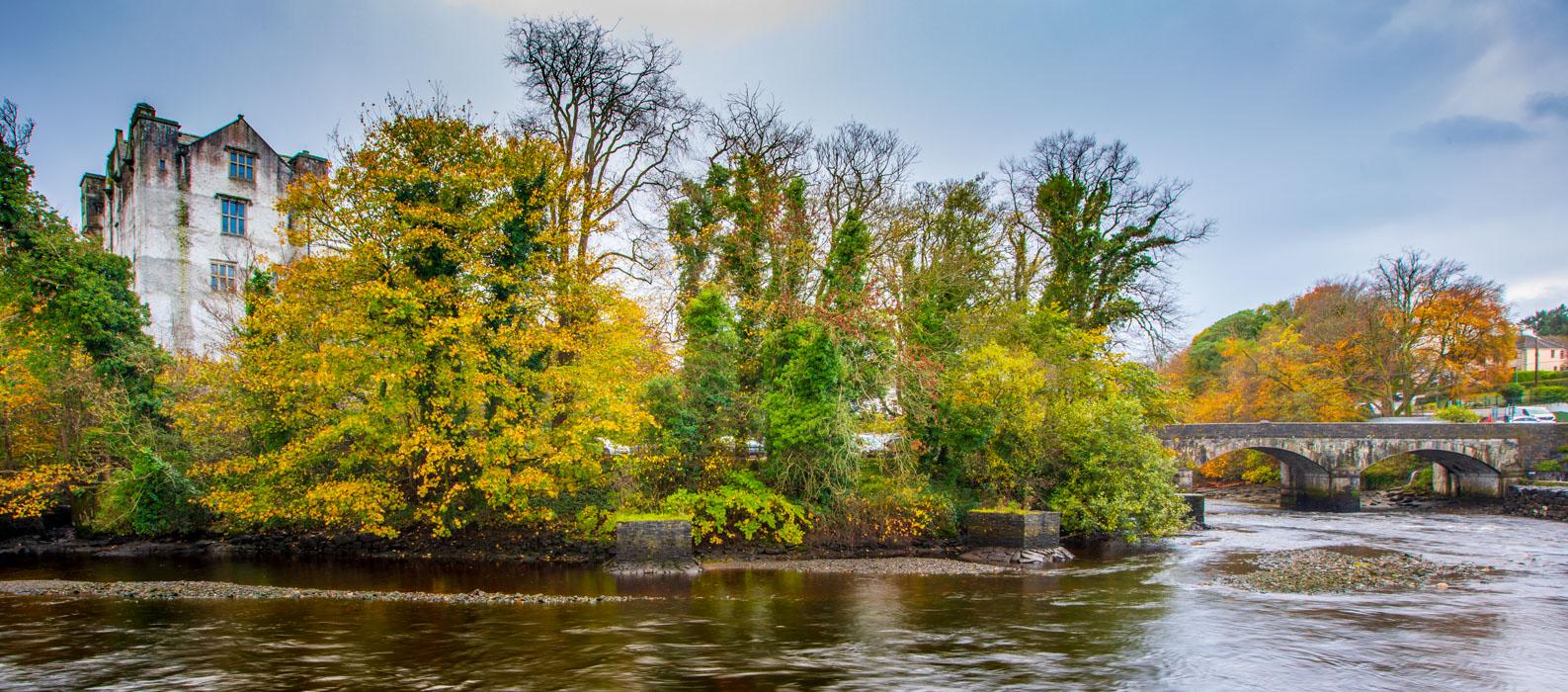 Donegal Castle river and bridge, Ireland