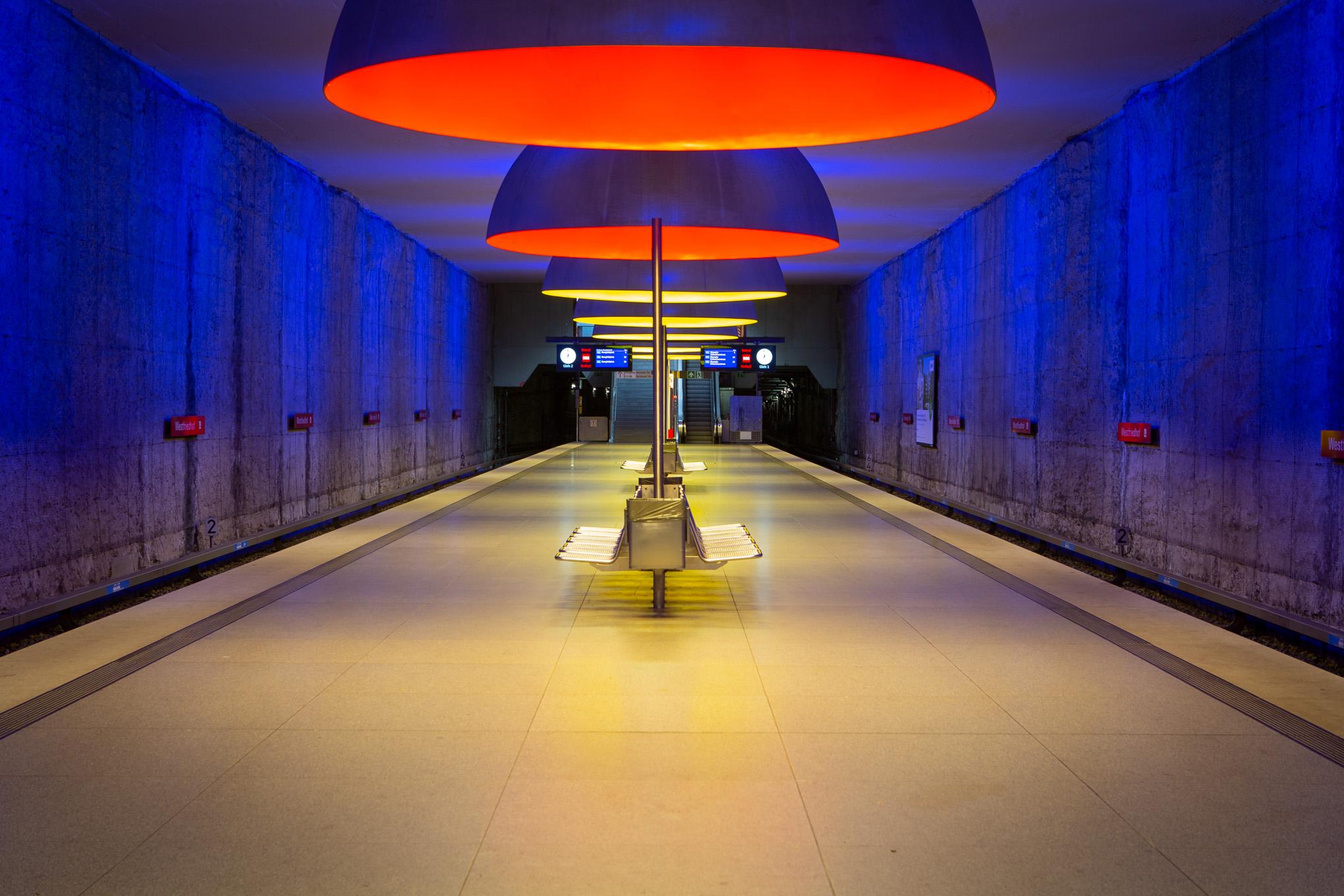 Metro station Westfriedhof, Munich, Germany