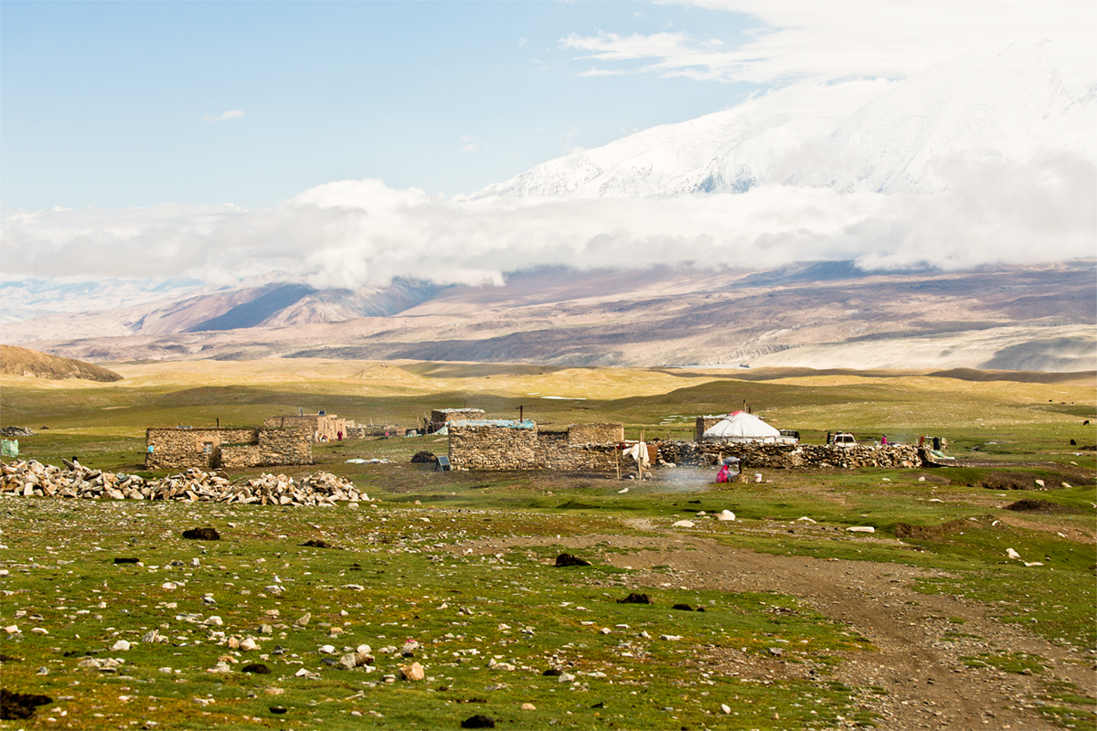 Pamir plateau near Lake Karakul, China