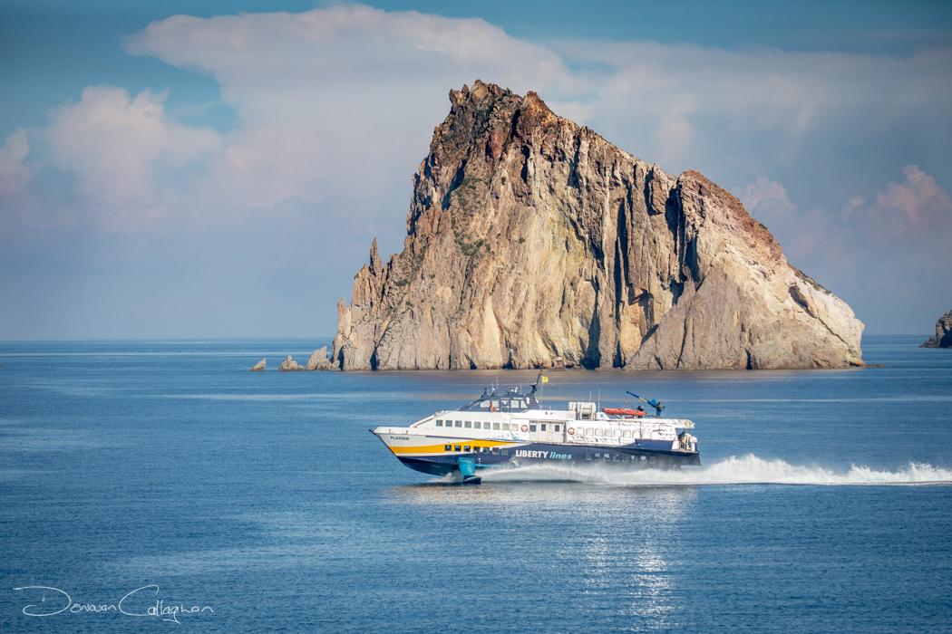 Panarea the intercity hydrofoil Dattilo Island, Italy