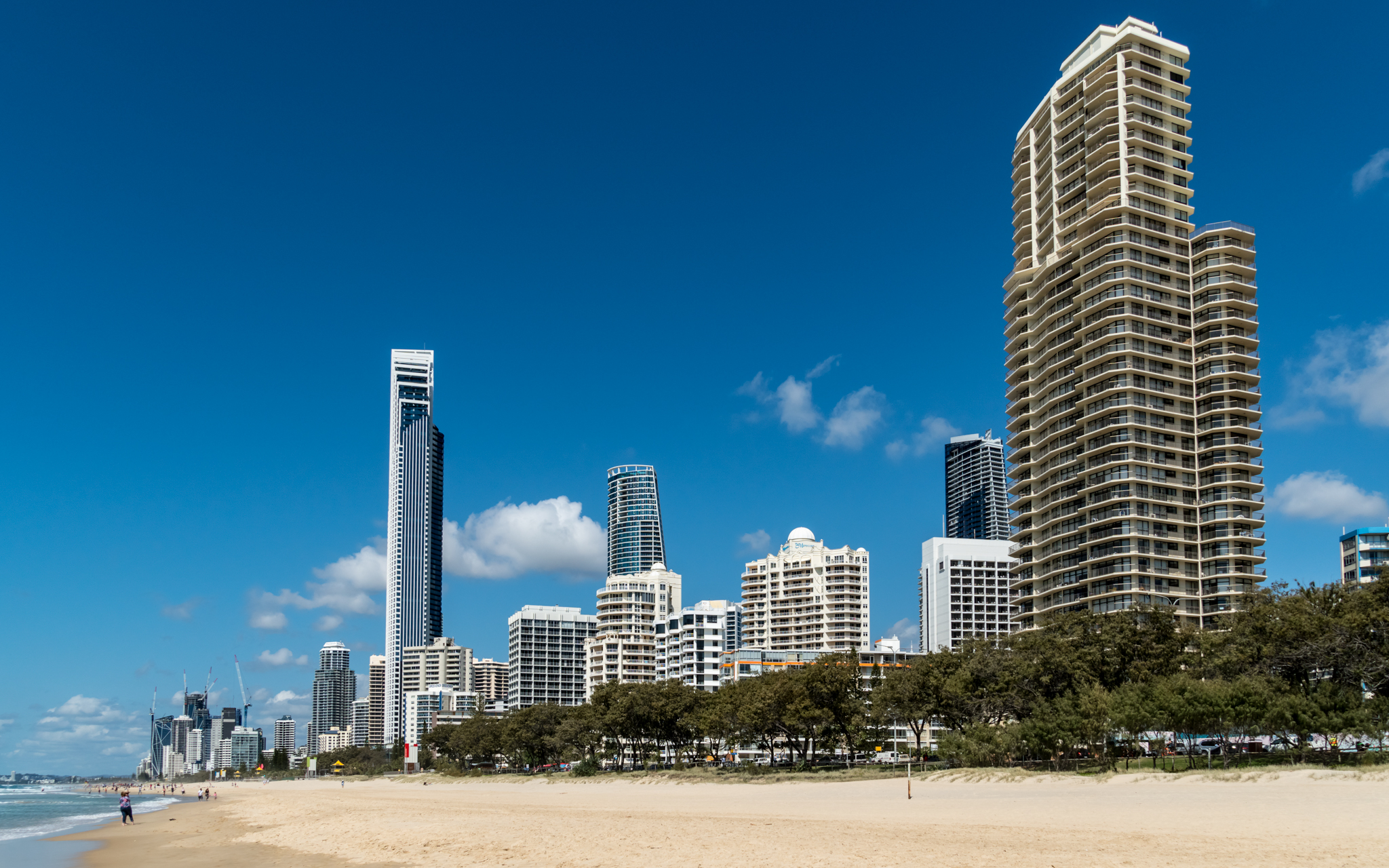 Surfers Paradise from the beach, Australia