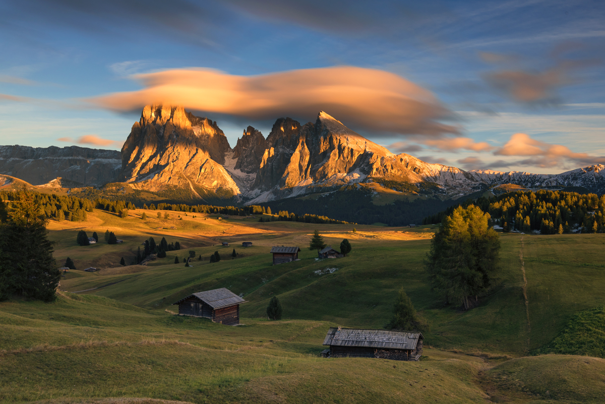 Alpine glow in South Tyrol, Italy