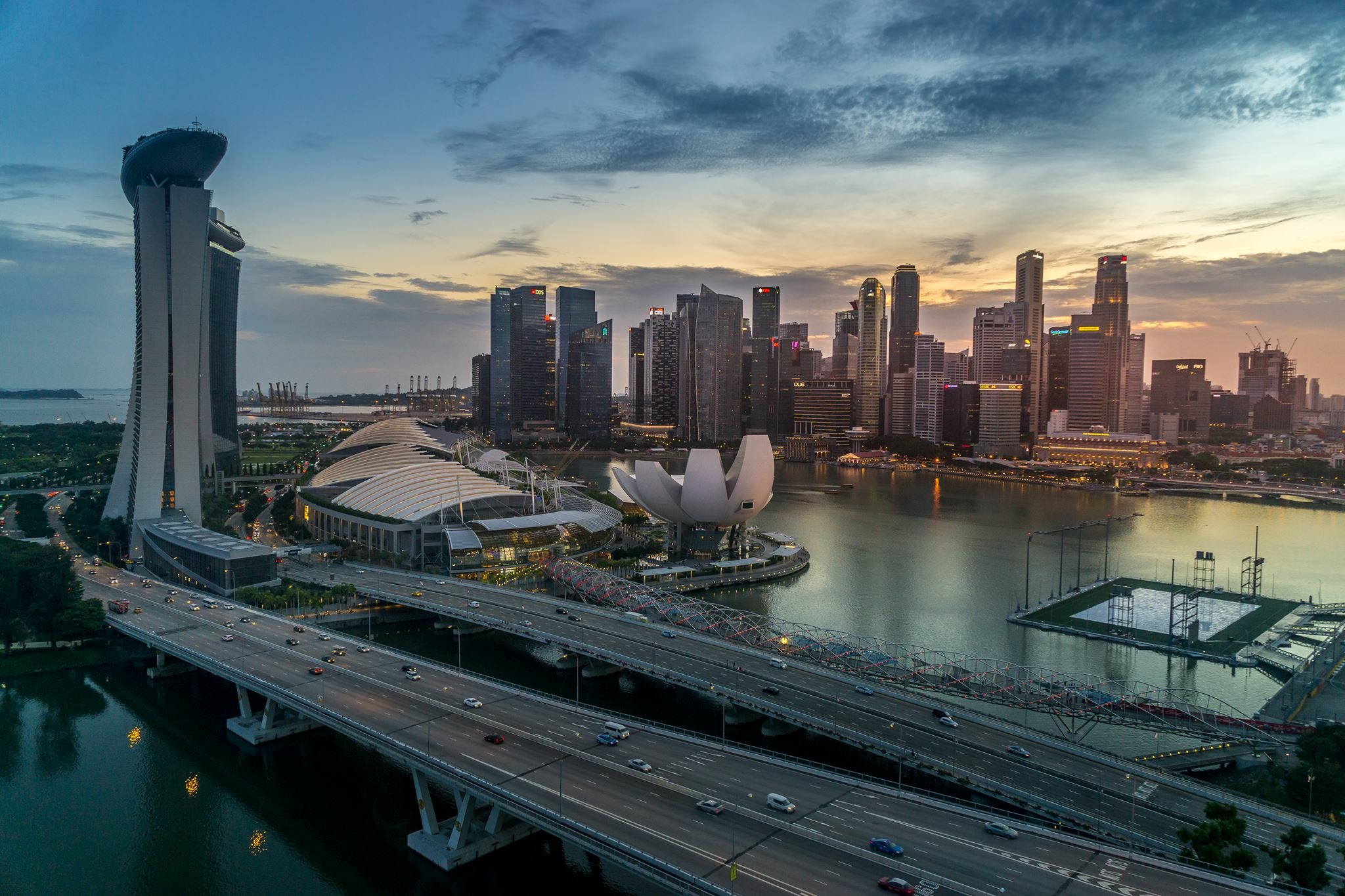 Big wheel view, Singapore