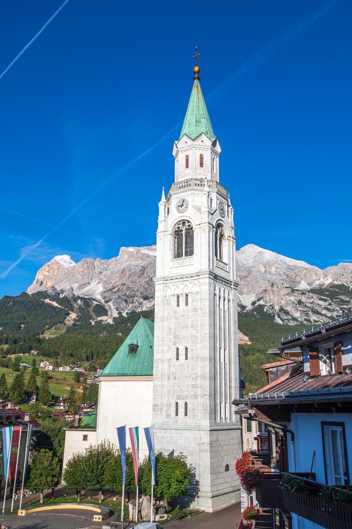 Church in Cortina Dolomites, Italy