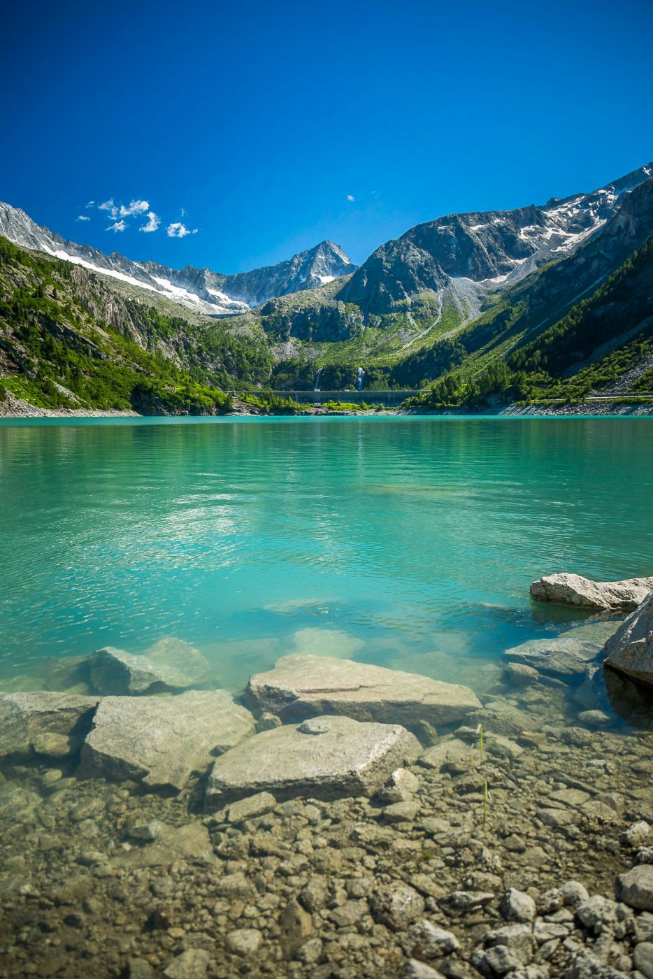 Clear water lake, Italy