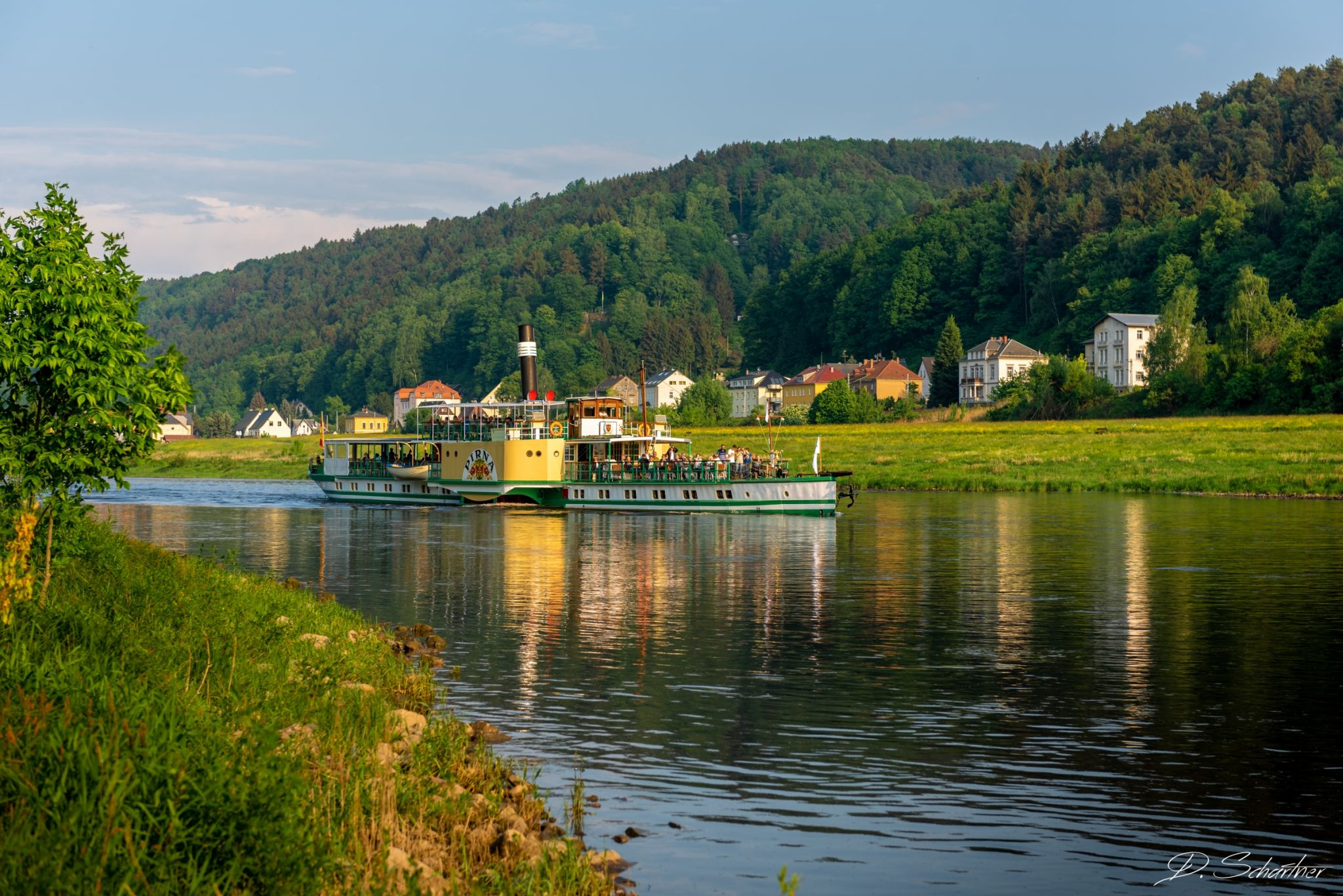 Ferry on the Elbe, Germany