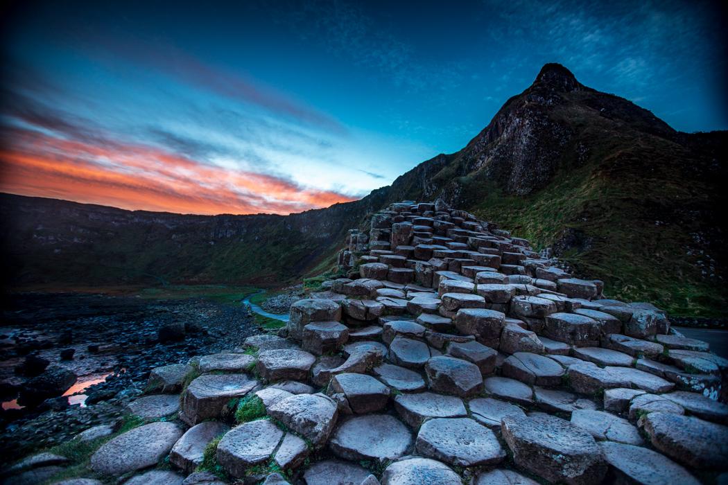 Gaints Causeway stairway to heaven County Antrim, United Kingdom