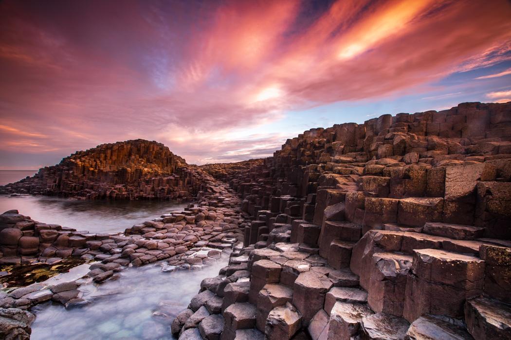 Giants Causeway Sunrise County Antrim Northern Ireland, United Kingdom