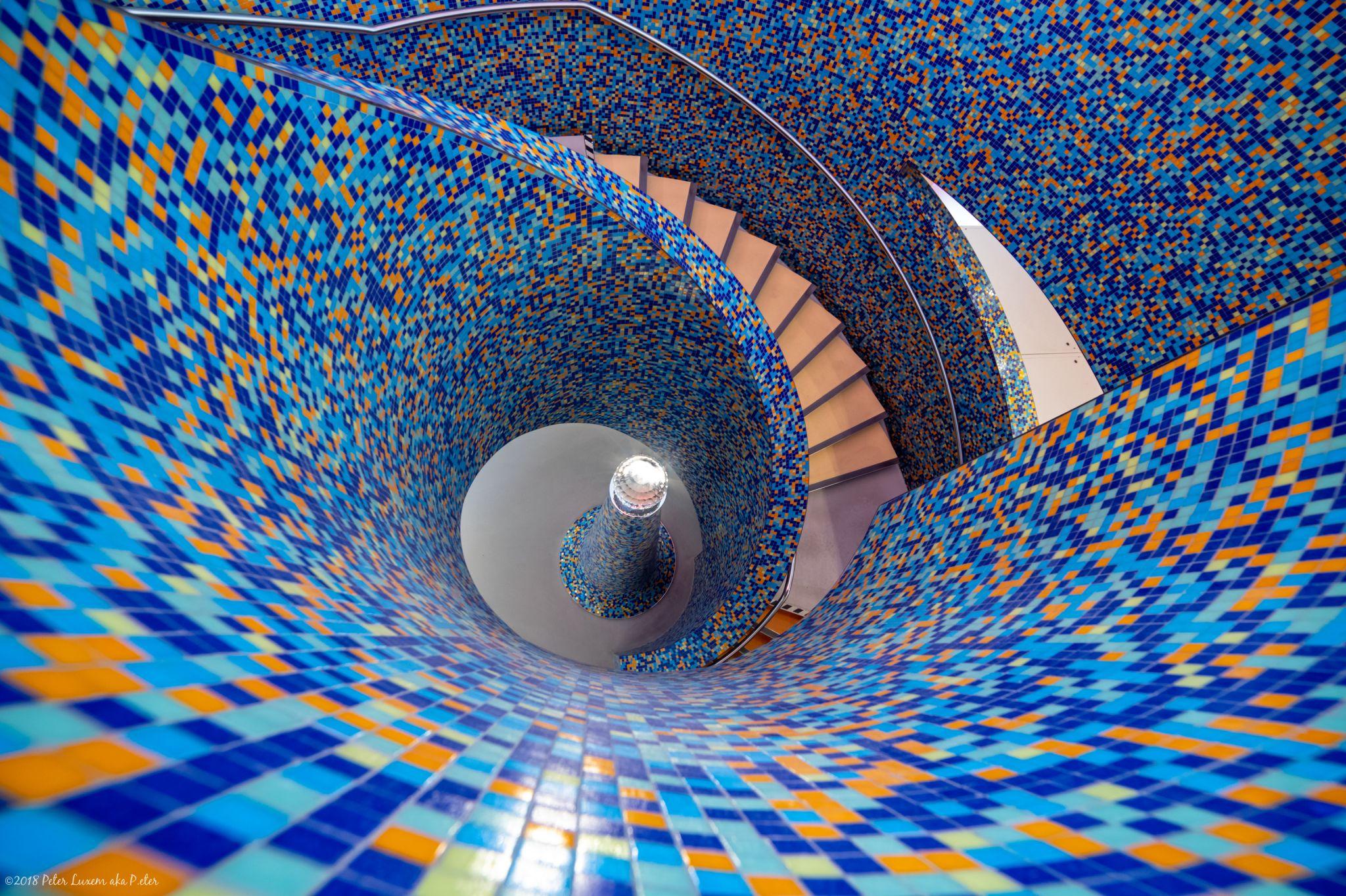 Inside the Groninger Museum of Modern Art, Netherlands