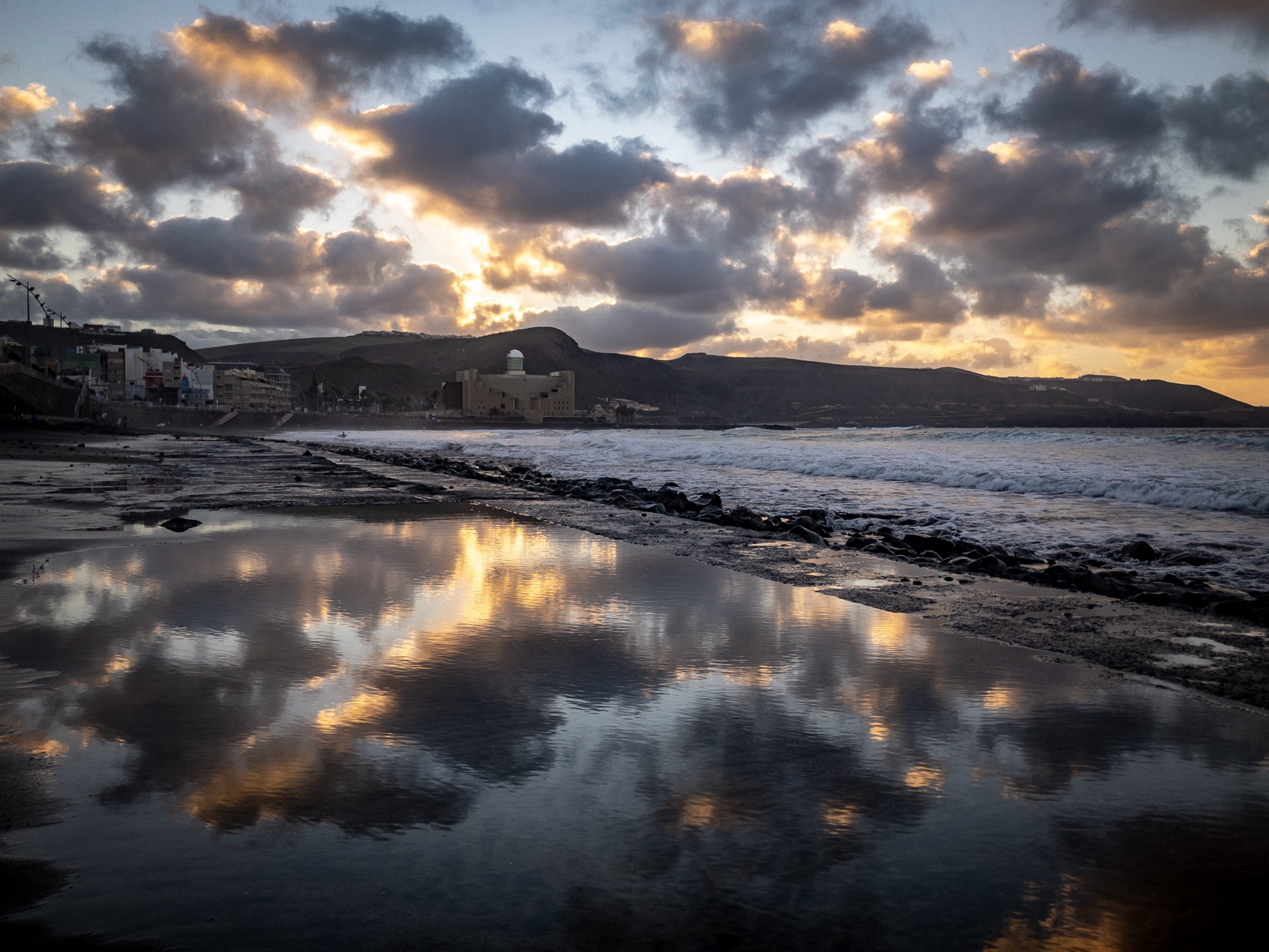 Salt water reflections, Spain