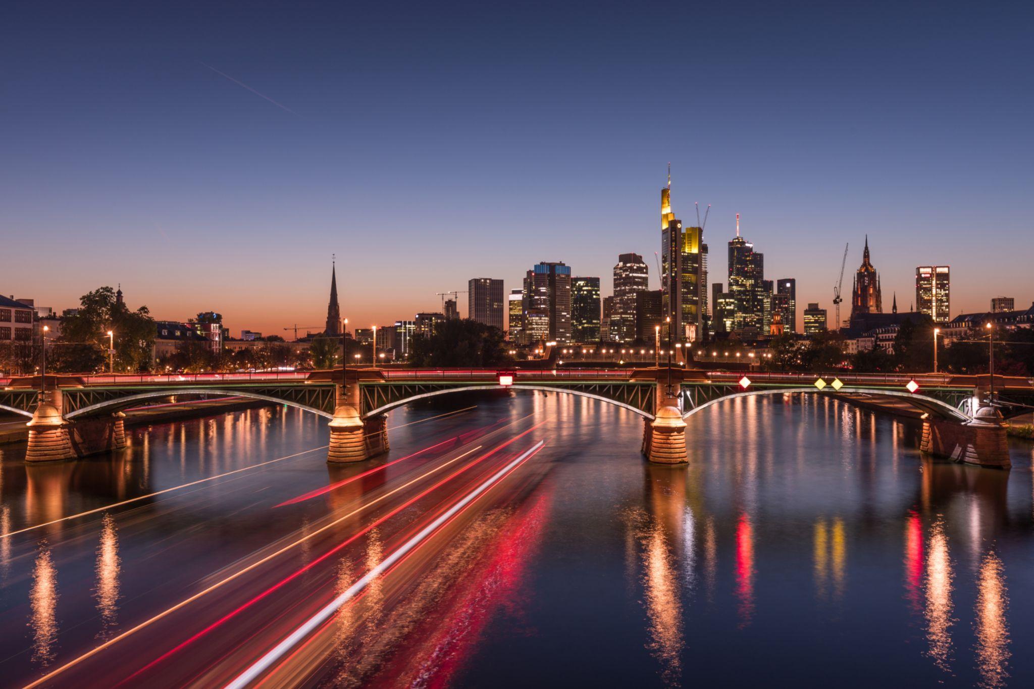 Skyline in Frankfurt am Main, Germany