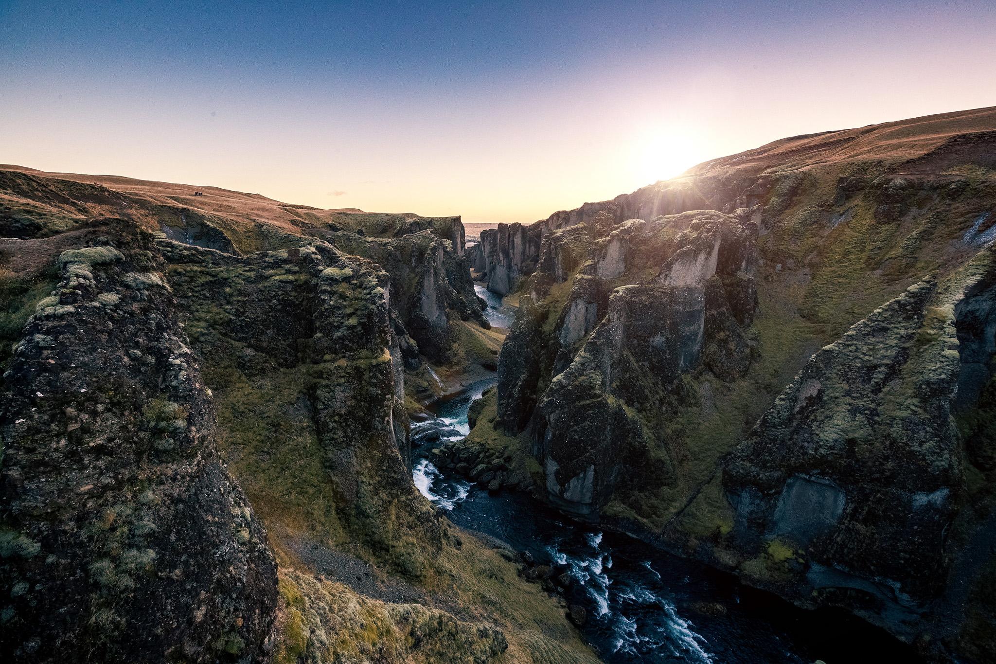 Sunset at Fjaðrárgljúfur-Canyon, Iceland