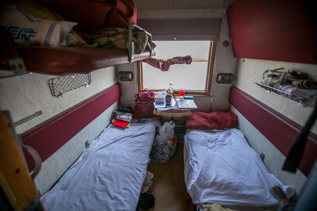 Trans Siberian Railway sleeping cabin, Russian Federation