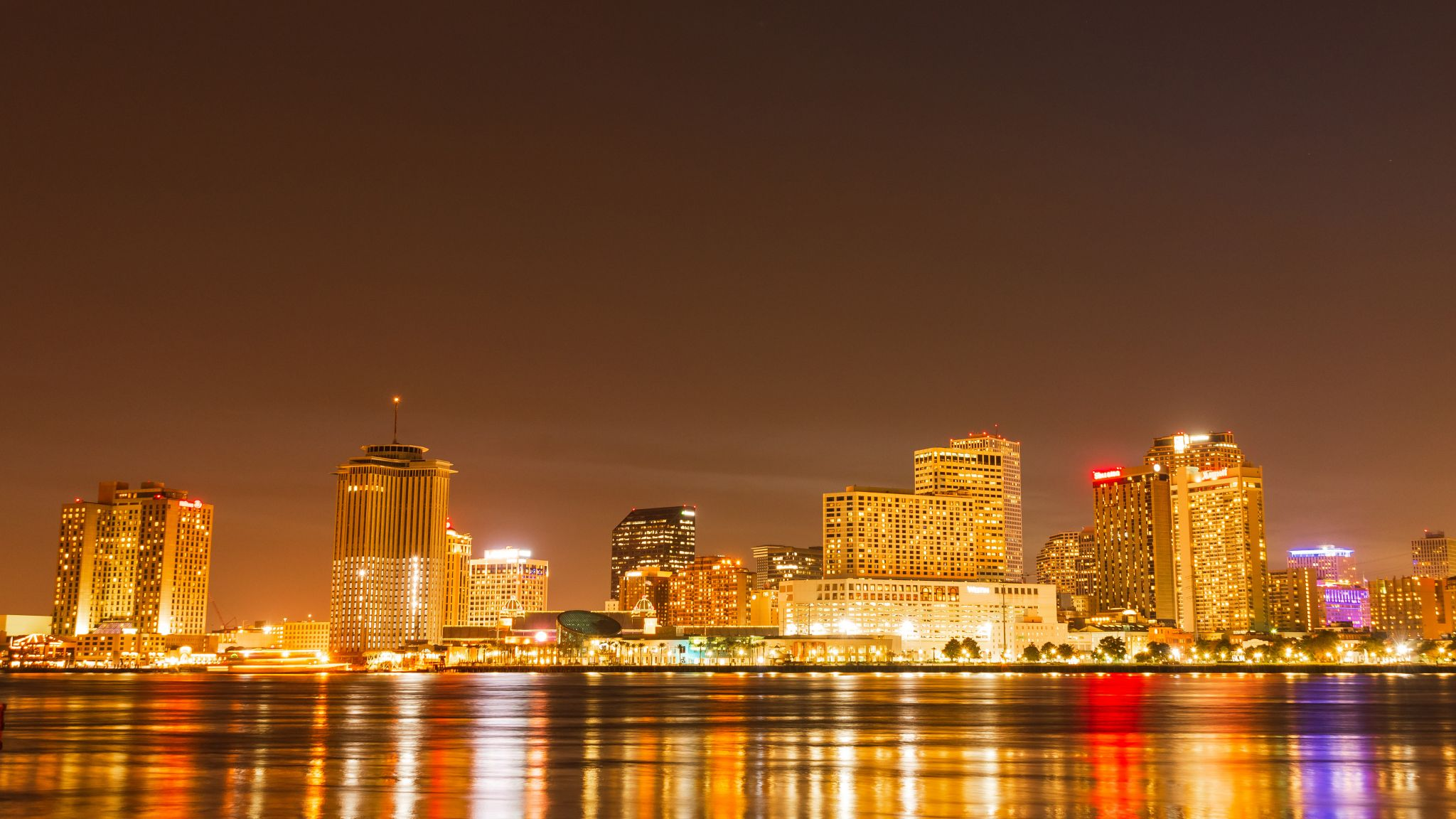 View of New Orleans downtown from Algiers Point, USA