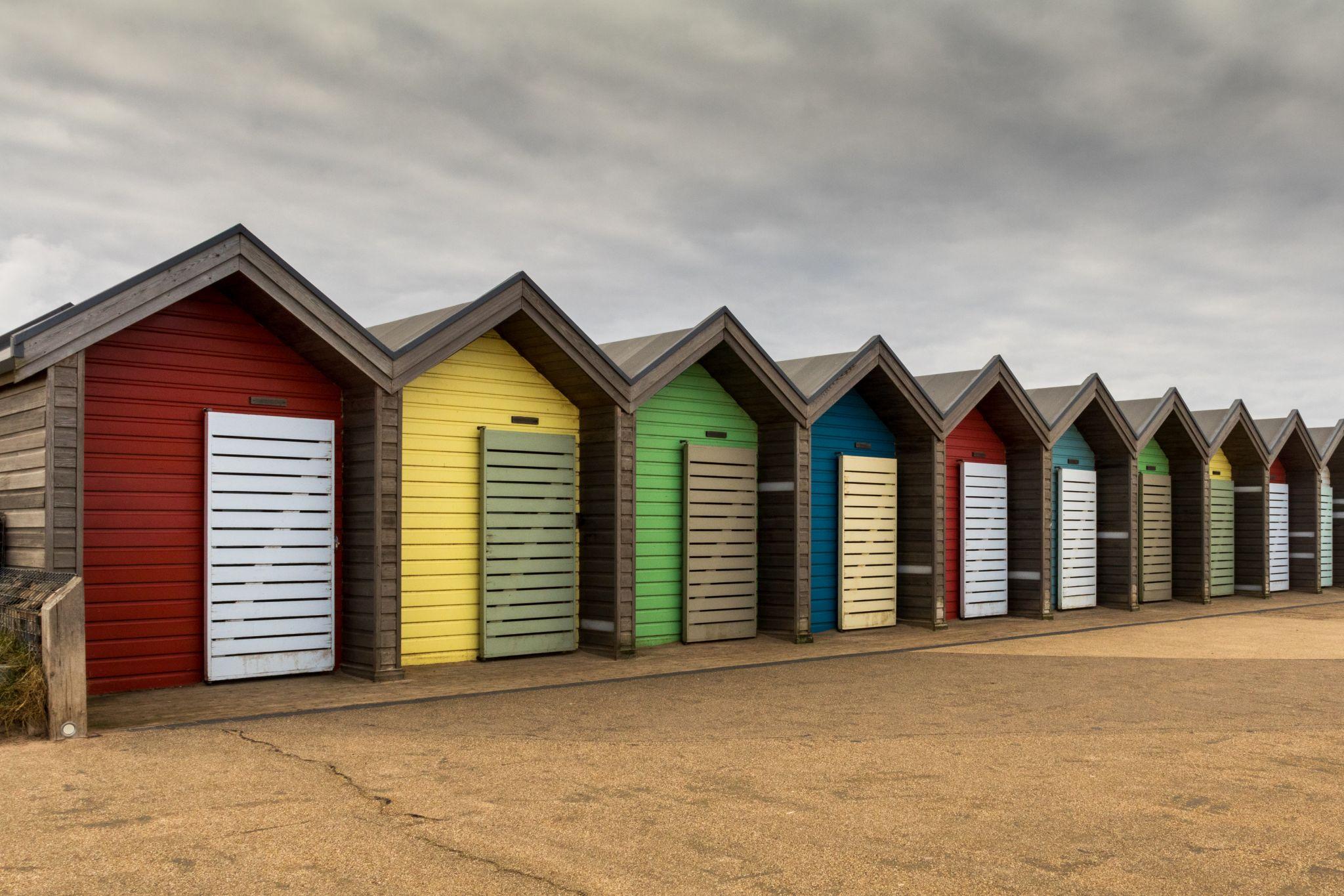 Blyth Beach huts, United Kingdom