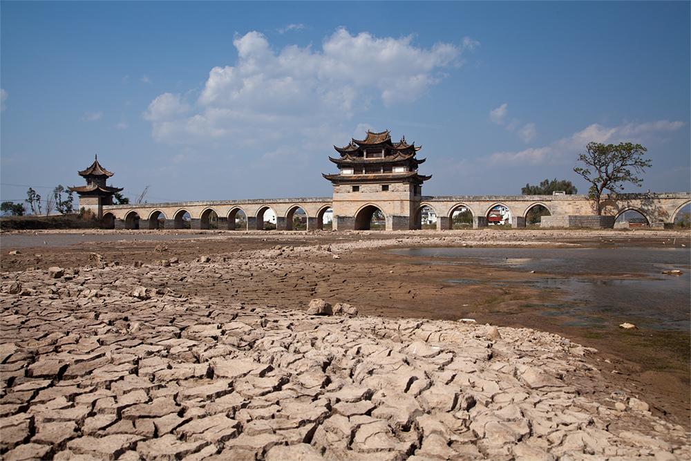Doppeldrachenbrücke, China
