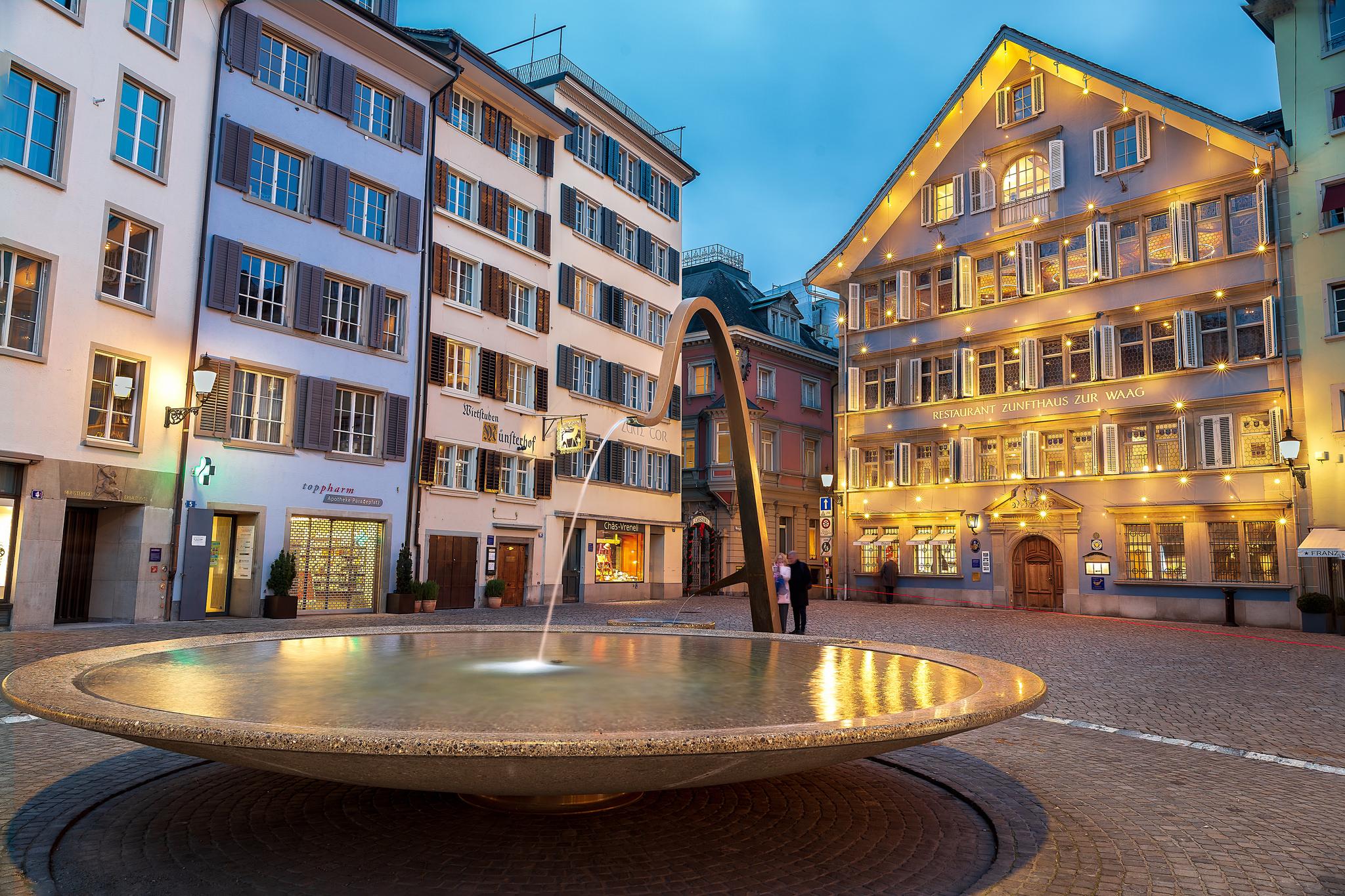 Fountain in Zurich Central, Switzerland