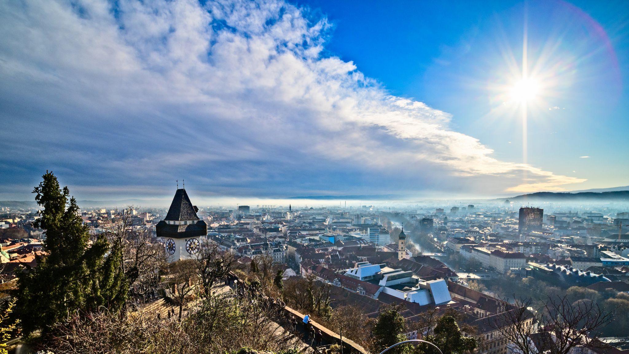 Graz, Schlossberg, Uhrturm, Austria