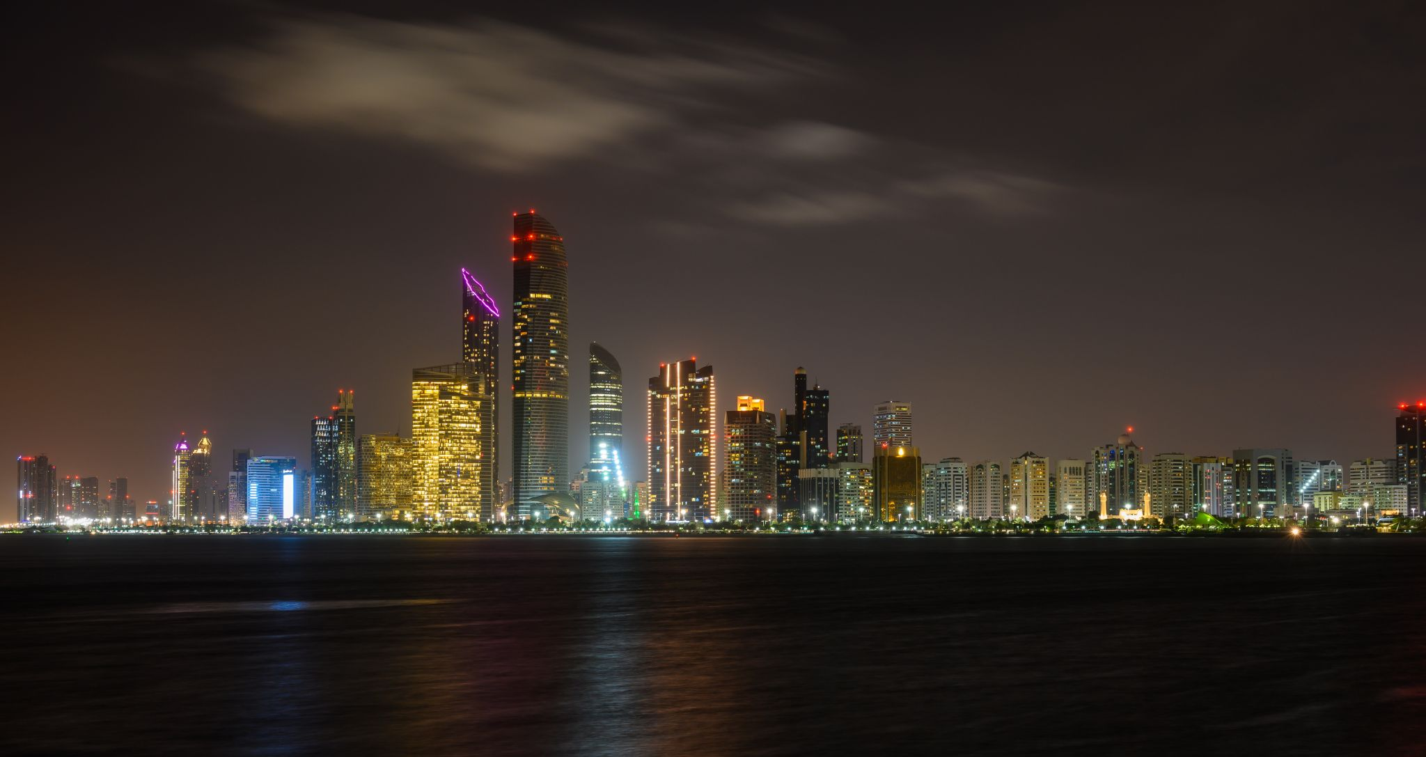 Abu Dhabi Skyline United Arab Emirates Stock Photo