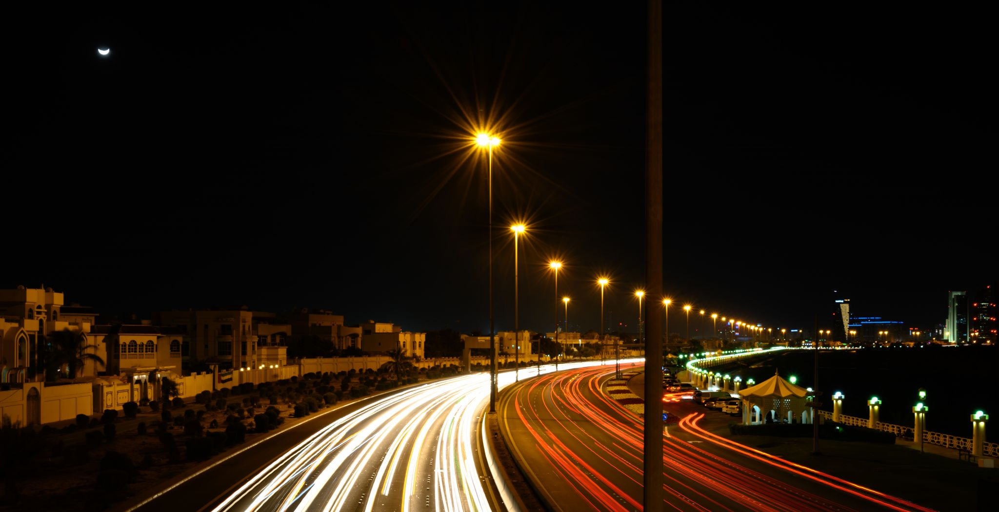 Al Salam Street Light Trail, United Arab Emirates