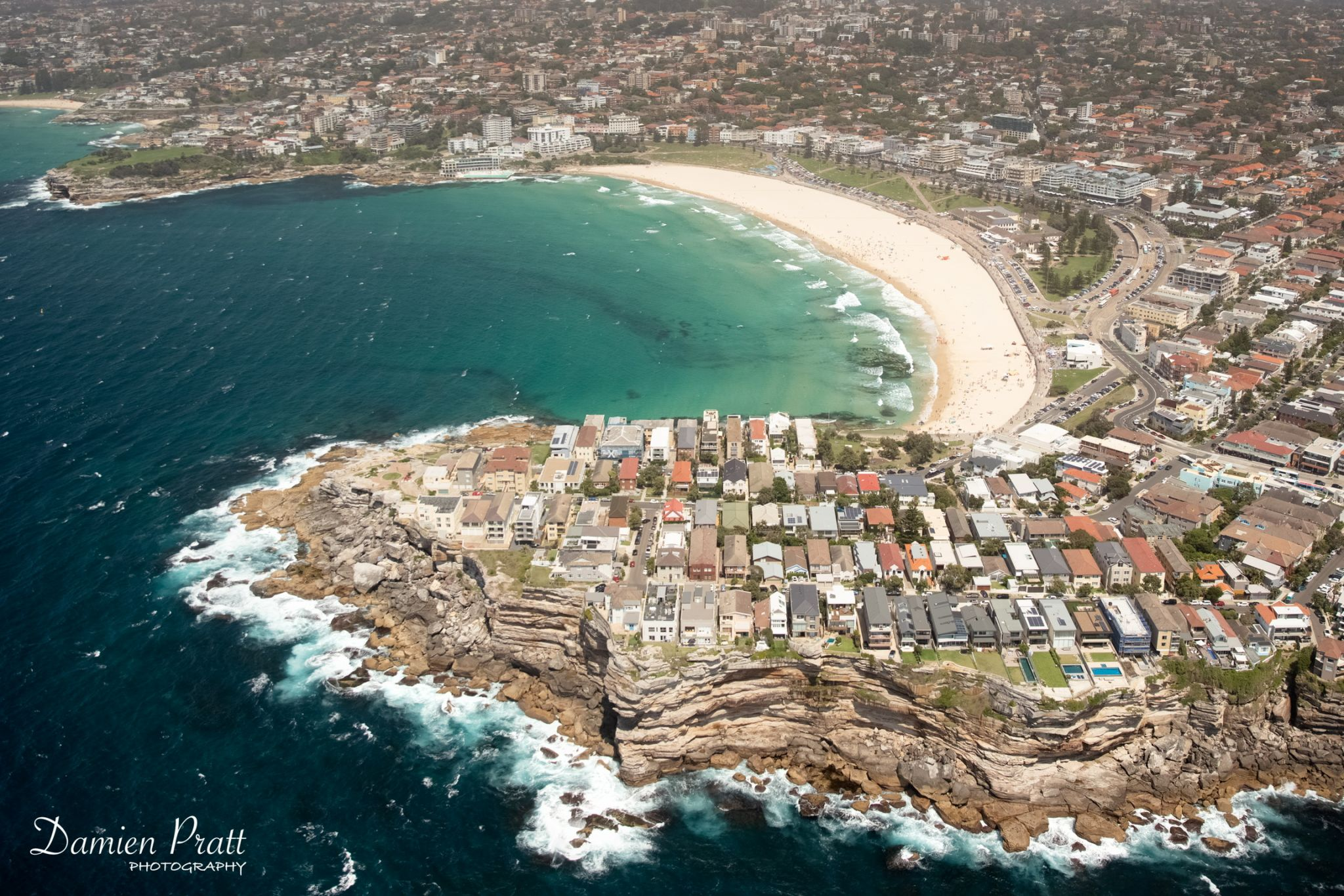 Bondi Beach aerial, Australia