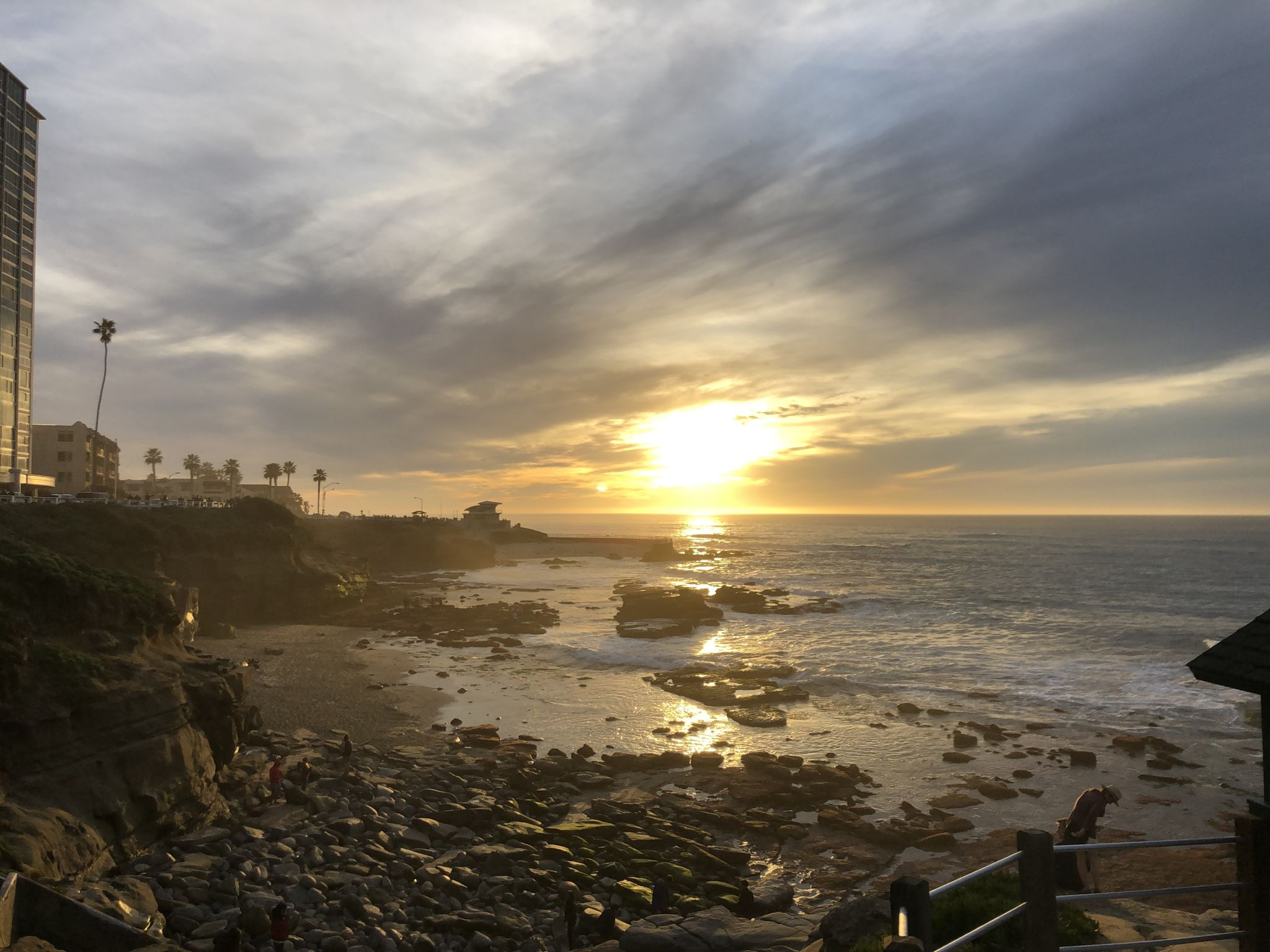 Sunset La Jolla cove, USA