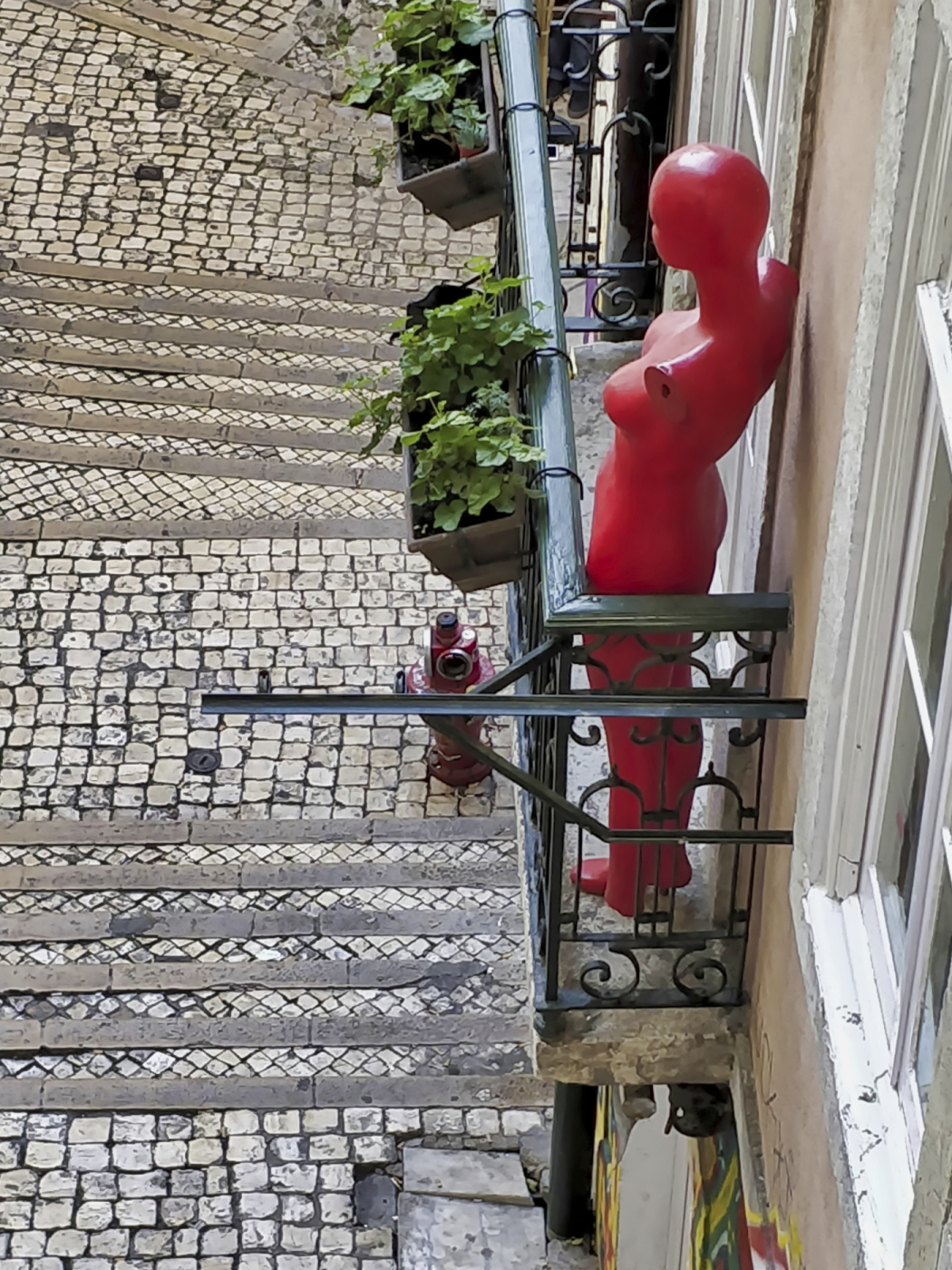 Watching the passerbies, Portugal