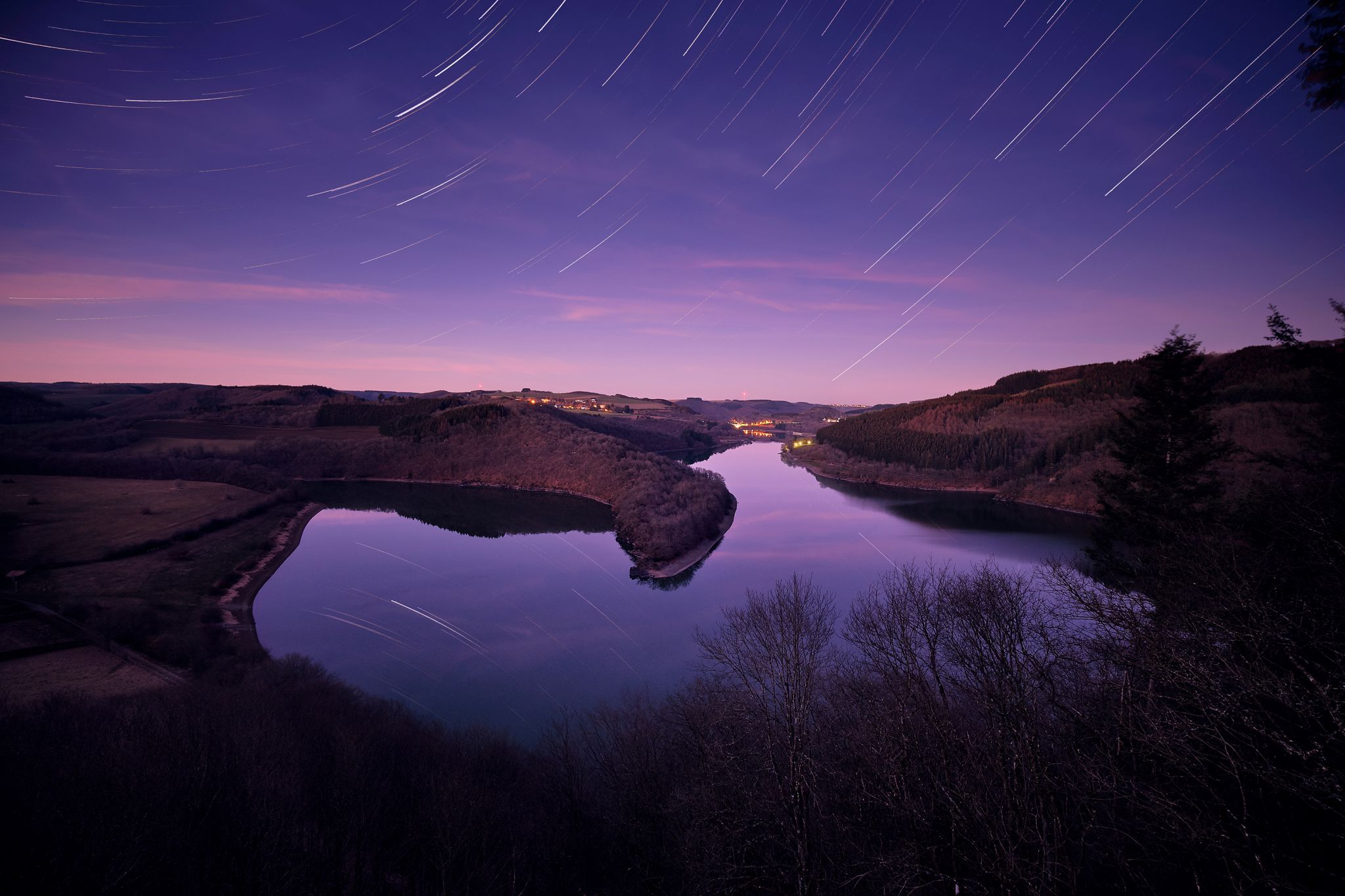 A view on the artificial lake of Esch-sur-Sûre, Luxembourg