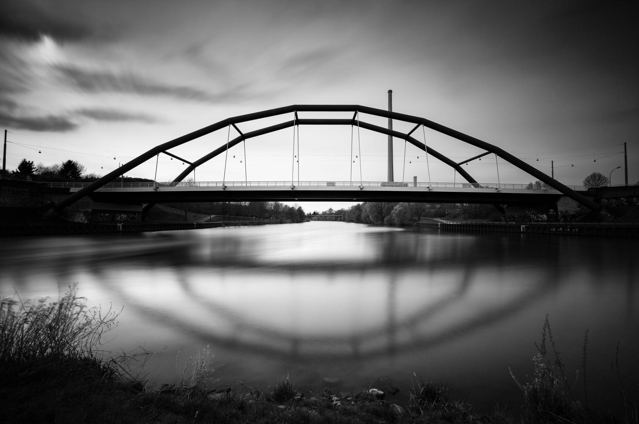 A view on the Ostspange Bridge, Germany