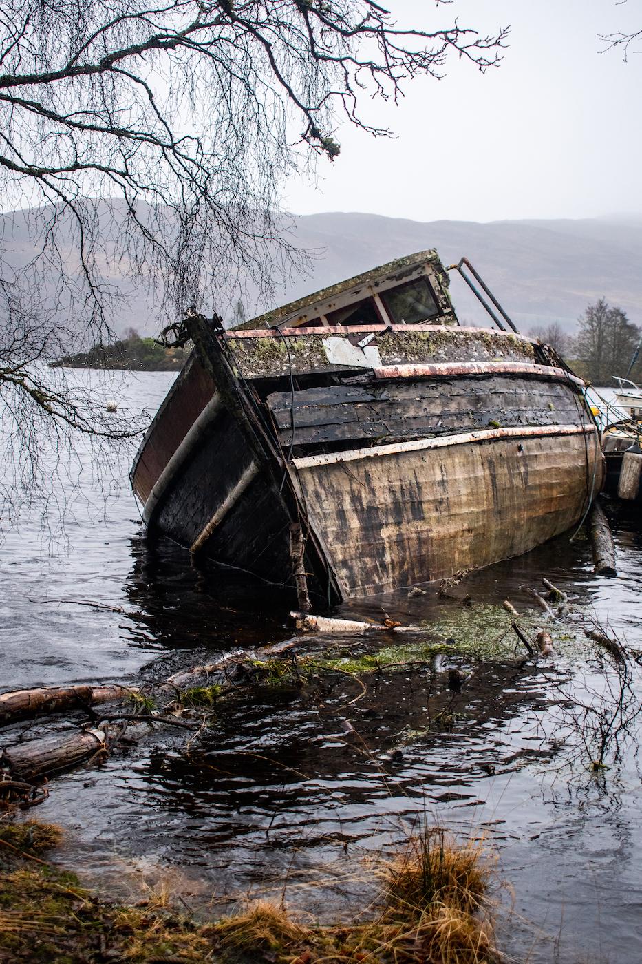 Abandoned Boats, Loch Ness, United Kingdom