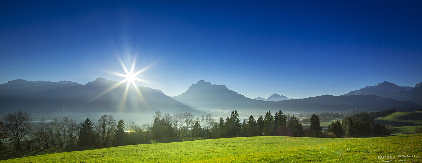 Allgäu - View over Forggensee, Germany