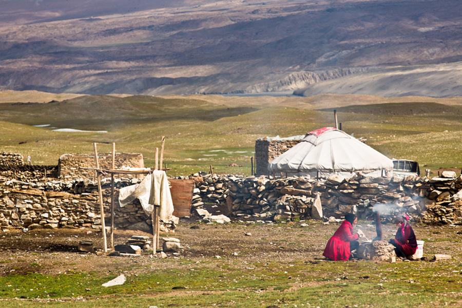 Near Kyrgyz at 4200 m, China