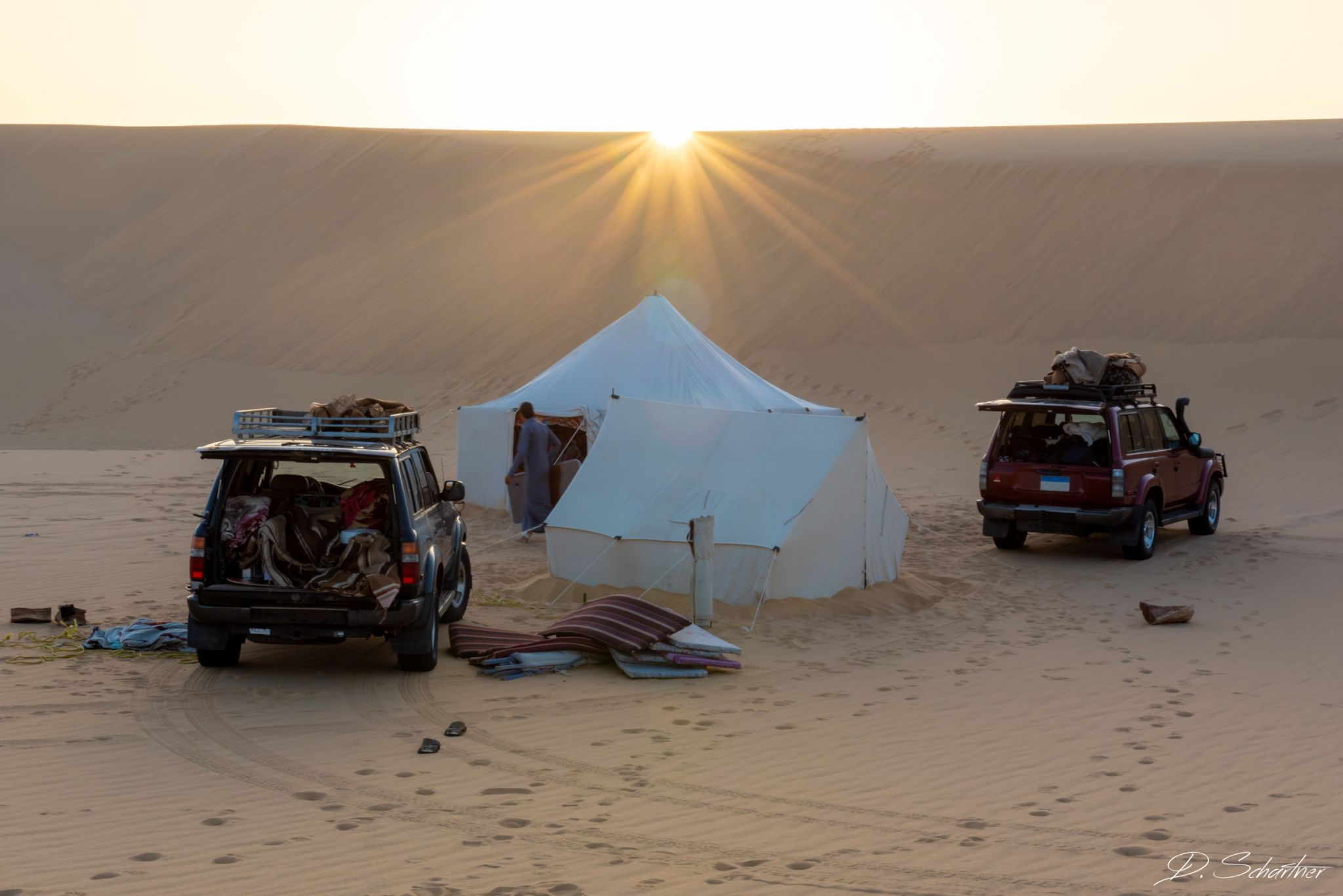 Camping in the Desert, Egypt