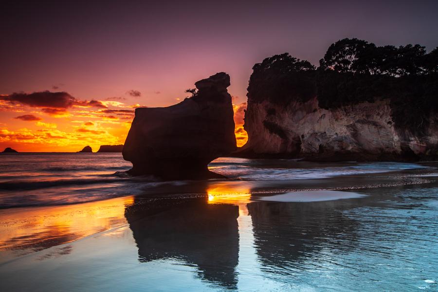 Cathedral Cove Coromandel Sunrise, New Zealand