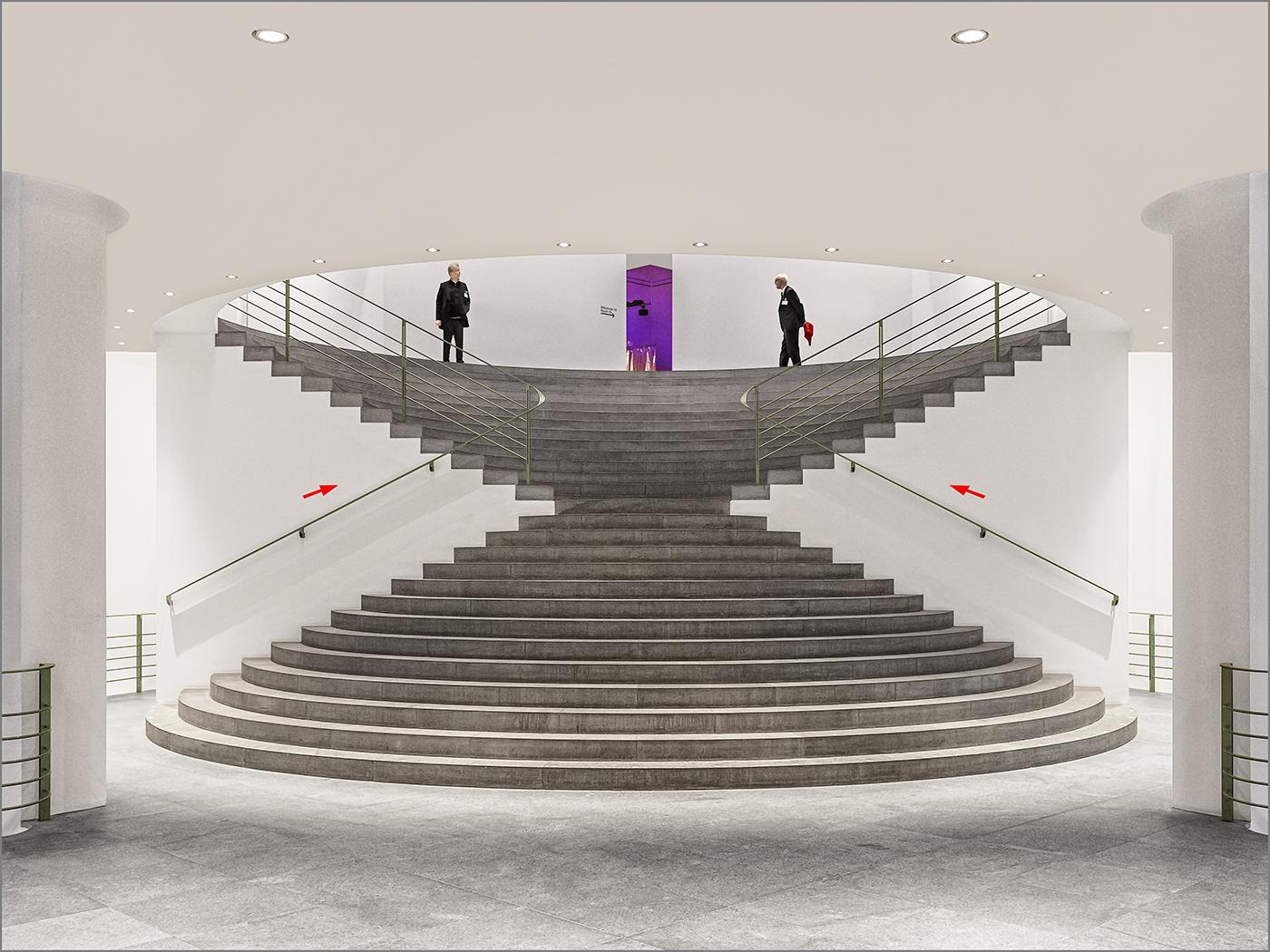 Diablo stairs in the Kunstmuseum in Bonn, Germany