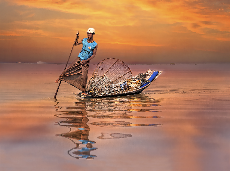Fisherman on the Inle lake, Myanmar