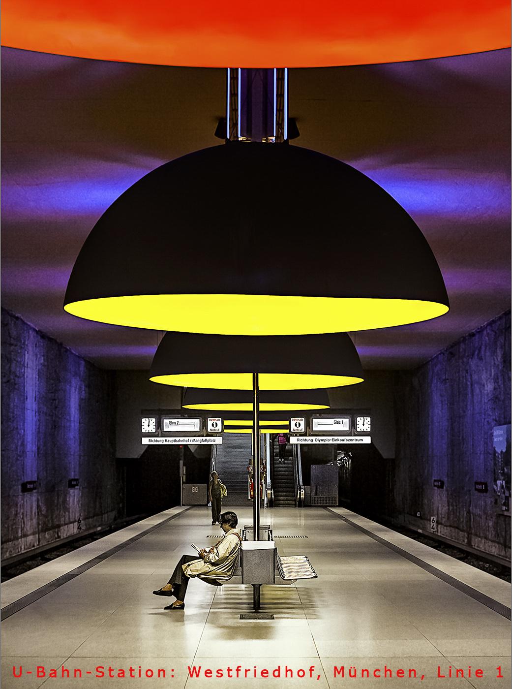 Modern Subway Station in Munich, Germany