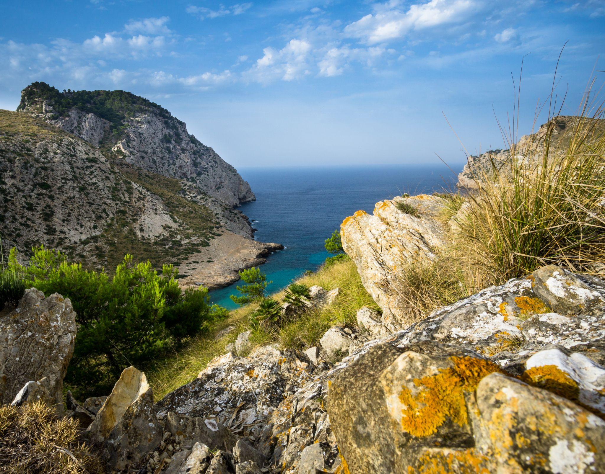 Punta Nau Bay (Cap Formentor), Spain