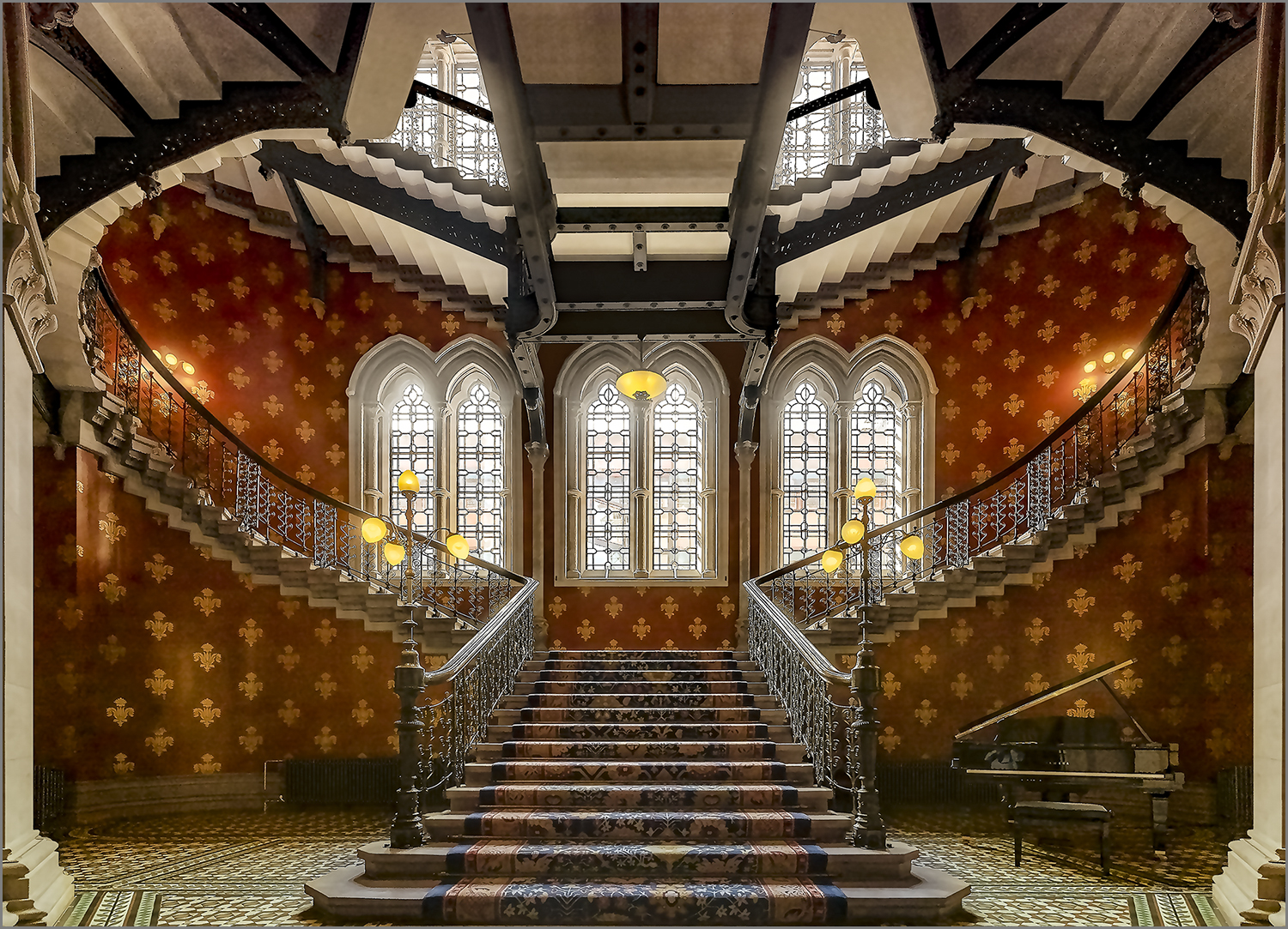 Stair at the St. Pancras Renaissance Hotel, London, United Kingdom