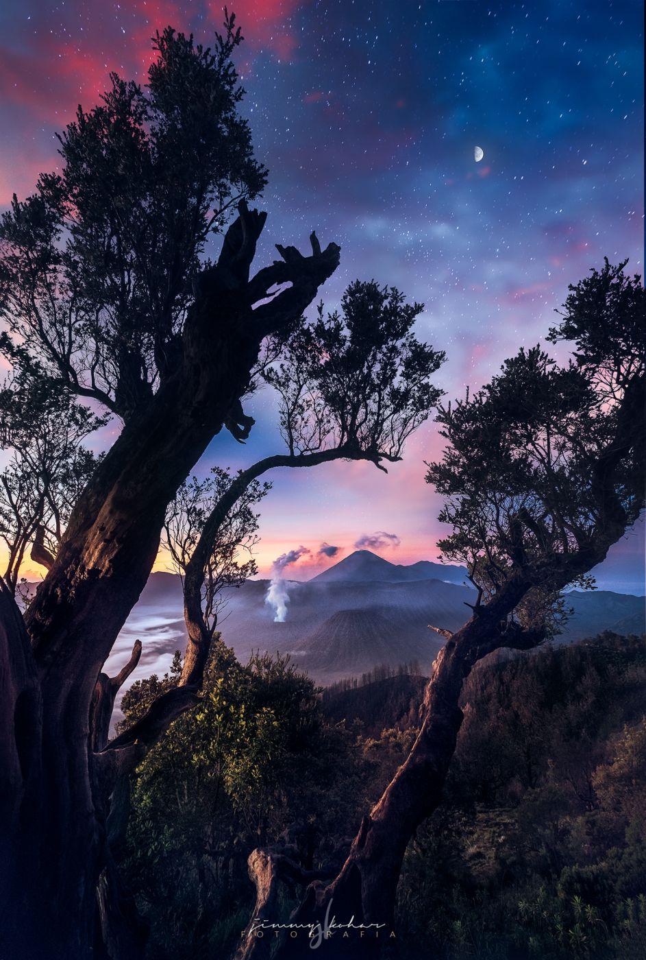 Stargazing in Bromo at Penanjakan 1, Indonesia