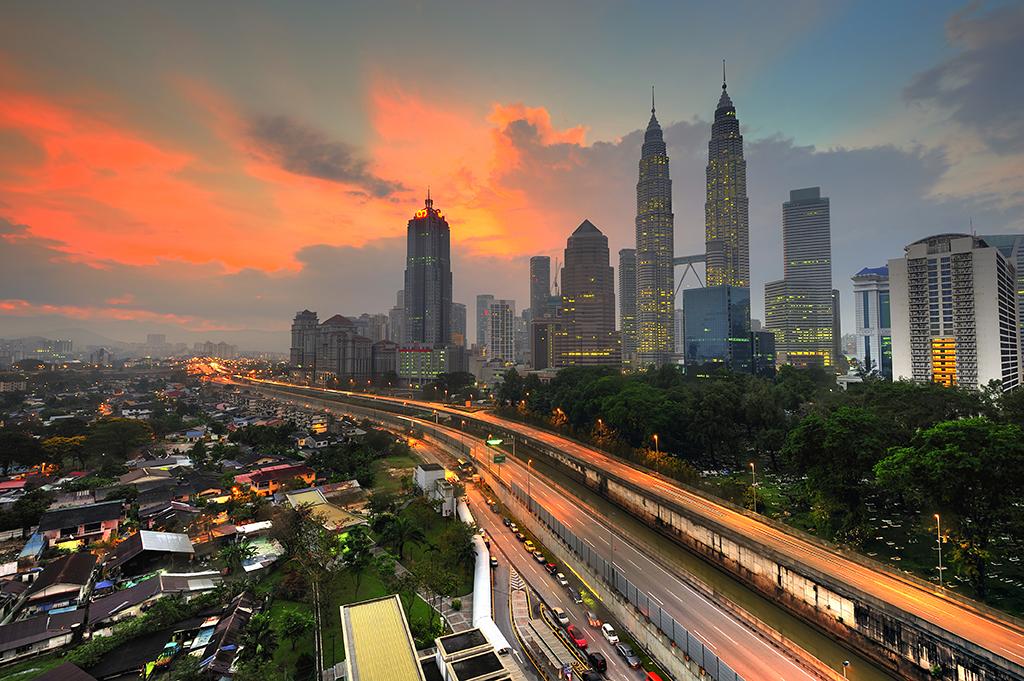 Sunrise in Kuala Lumpur, Malaysia