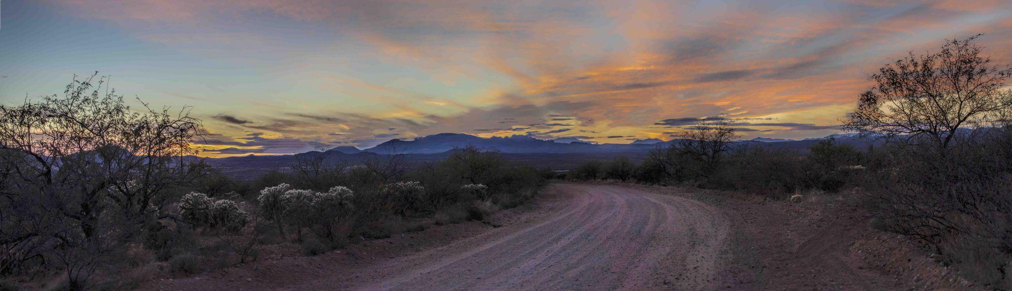 Sunset over the Santa Rita Mountains, USA