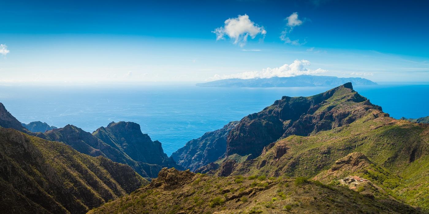 View to La Gomera from Tenerife, Spain