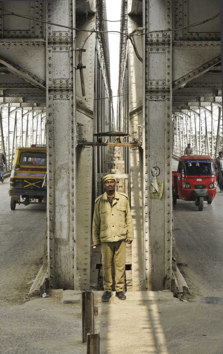 Watching the traffic, India